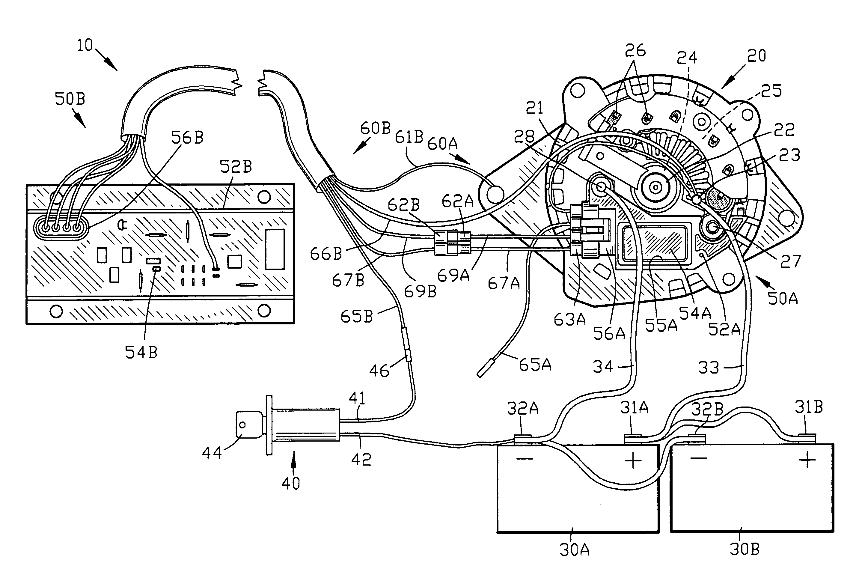 US07245111 20070717 D00000 patent us7245111 regulator system for alternator google patents valeo alternator regulator wiring diagram at sewacar.co
