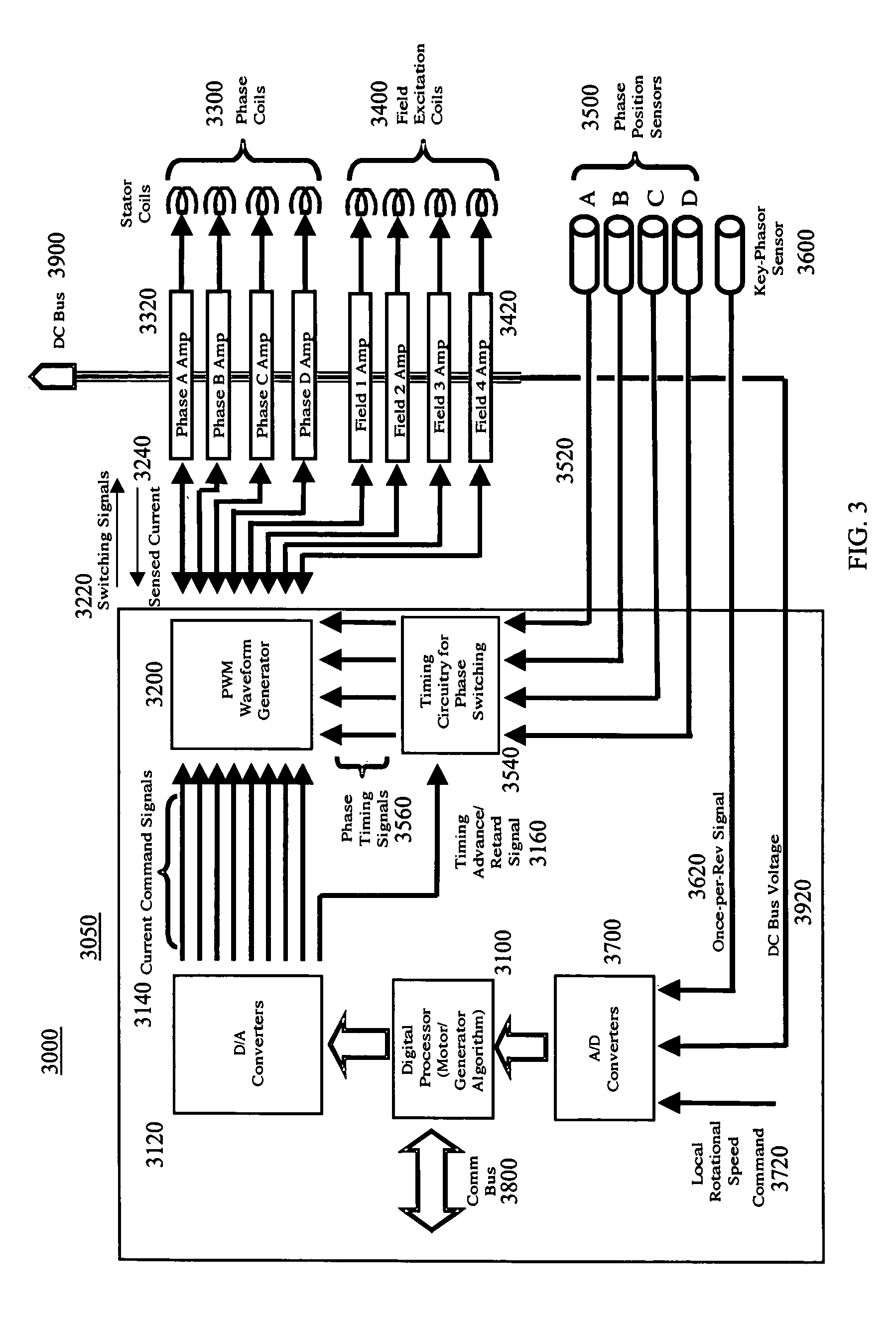 patent us7250734 high performance switched reluctance machine patent drawing