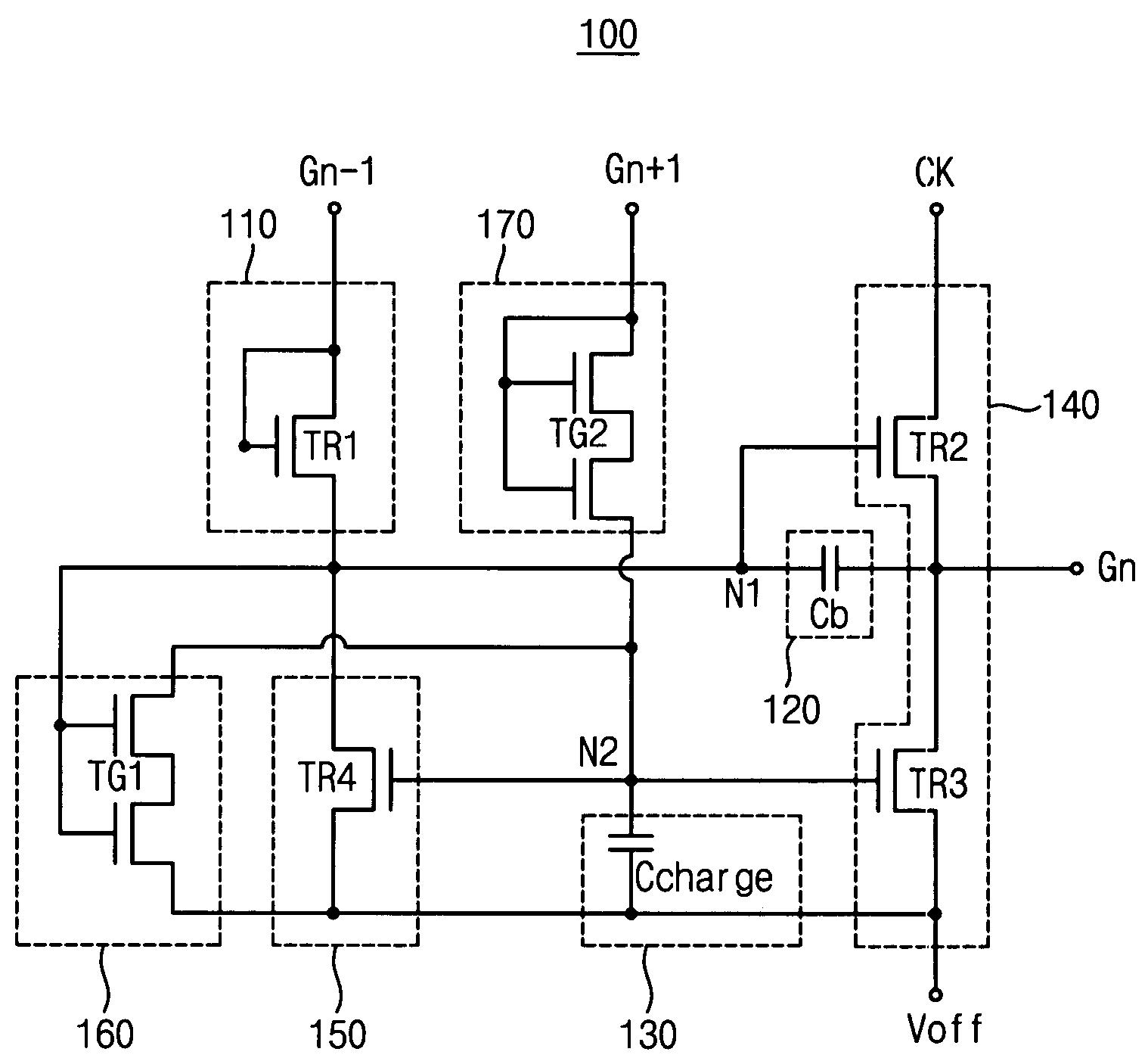 Brevet Us7250788 Shift Register Gate Driving Circuit And Display Diagram Patent Drawing