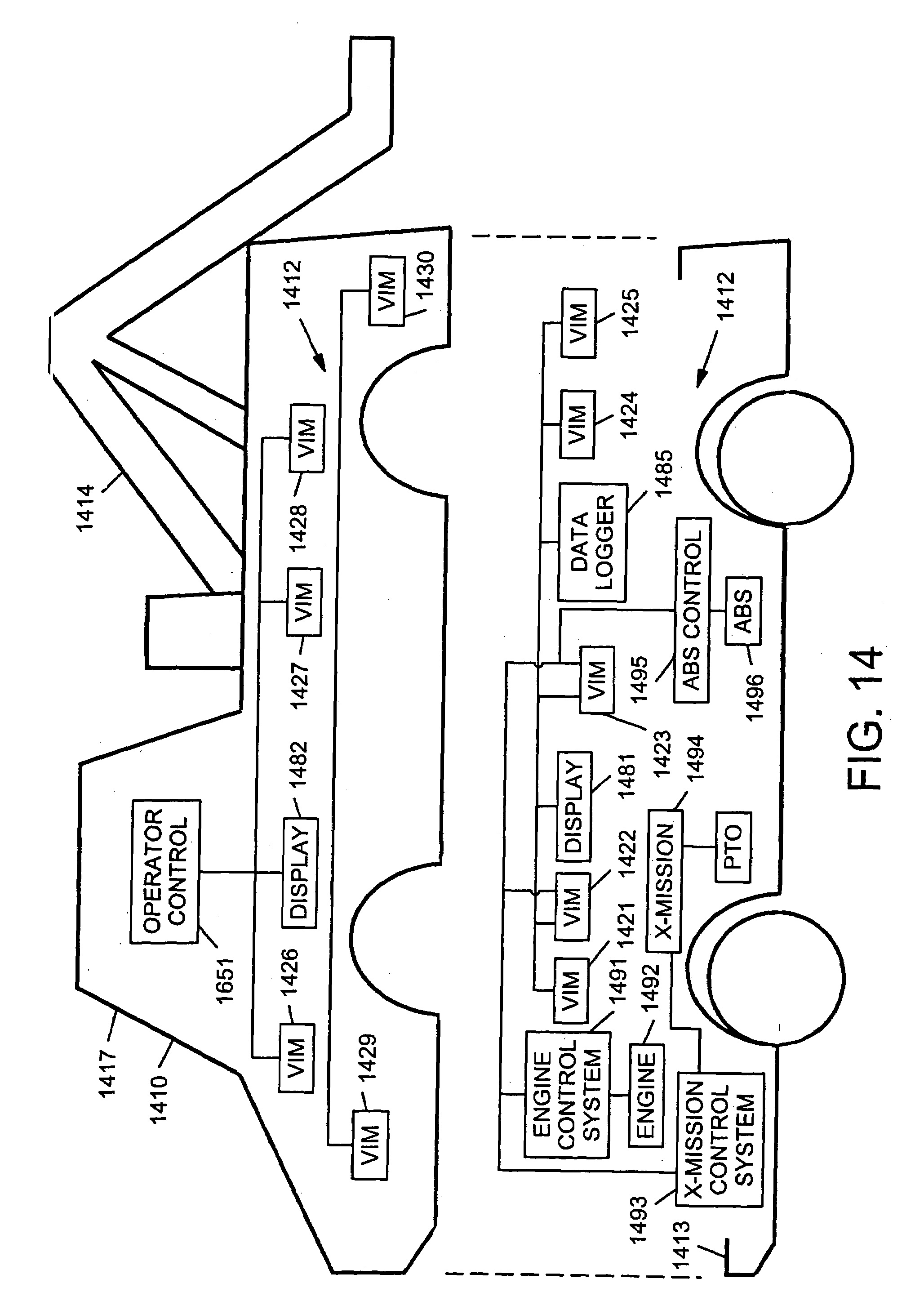 Patent Us7254468 Multi Network Control System For A Vehicle Windshield Wipers 124 1241 Wiring Diagram Drawing
