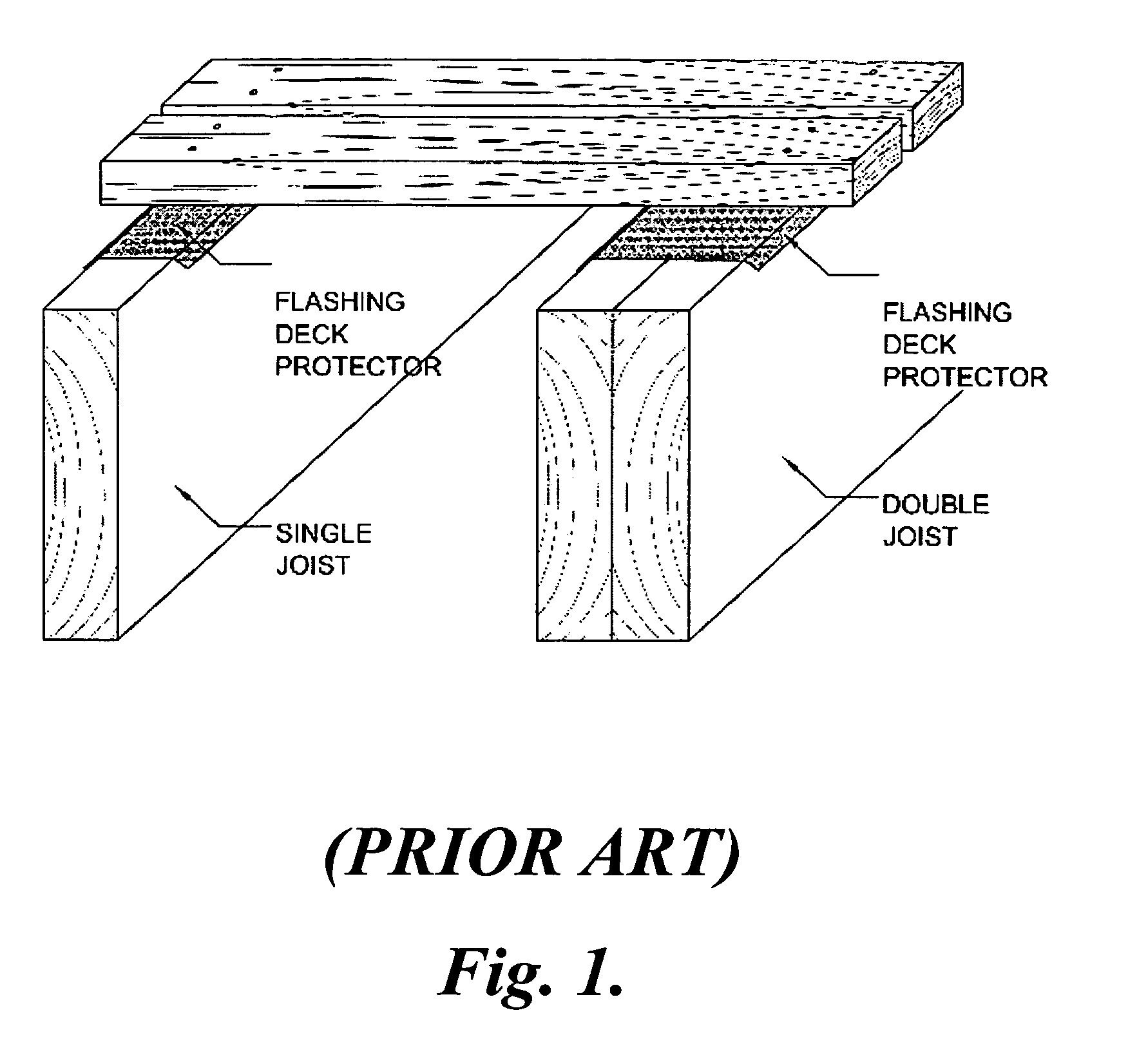 Patent Us7257930 Anticorrosion Separator For Wood Deck