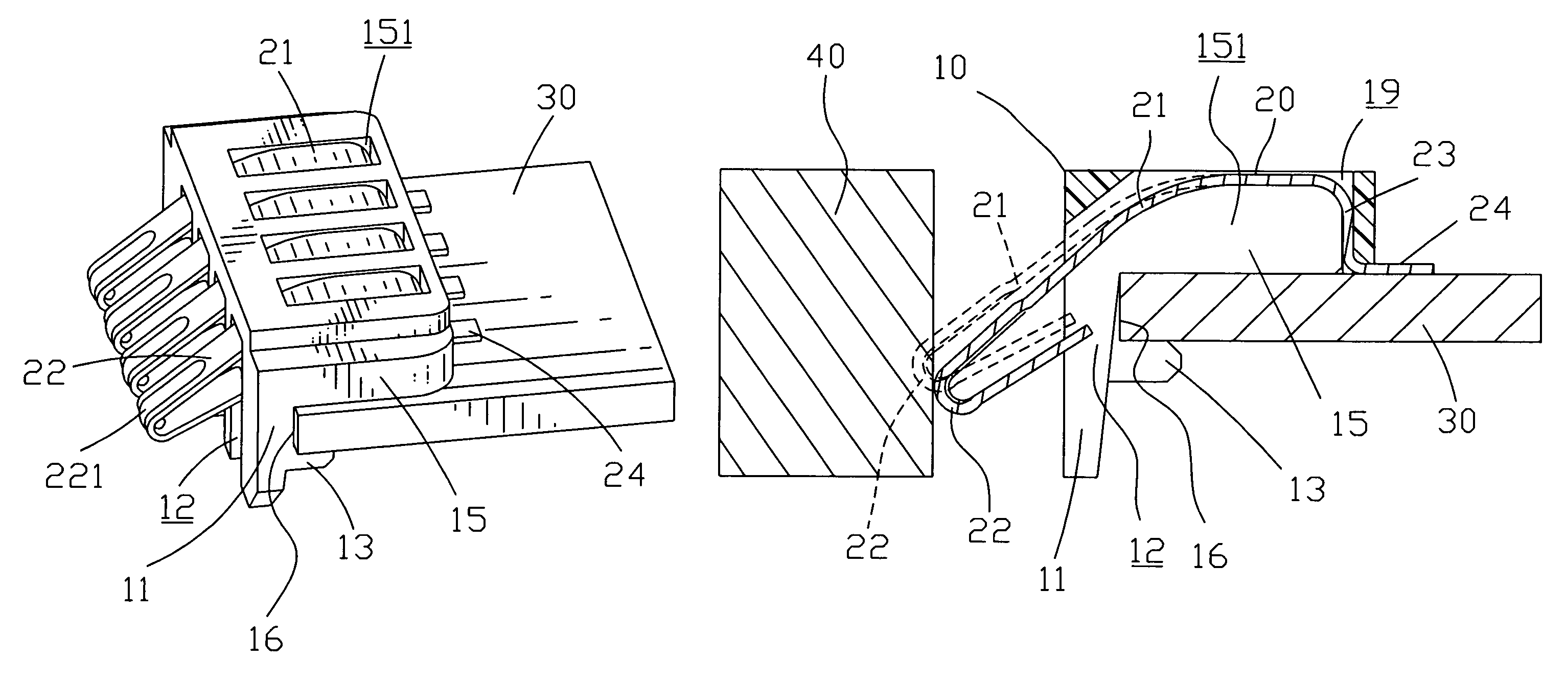 Patent Us7258571 Battery Connector With Retaining Board Google Place The Circuit In Cavity And Slot Pack Into Drawing