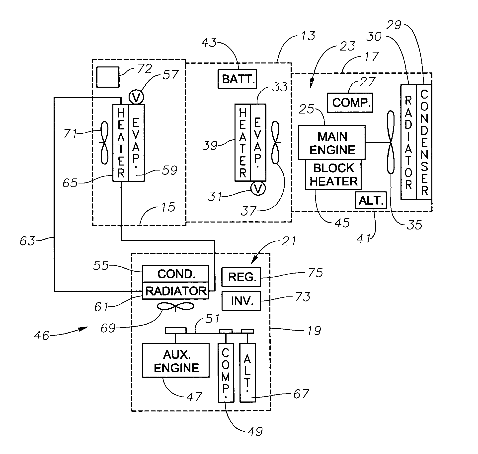 US07259469 20070821 D00000 patent us7259469 vehicle auxiliary power unit, assembly, and scs frigette cruise control wiring diagram at n-0.co