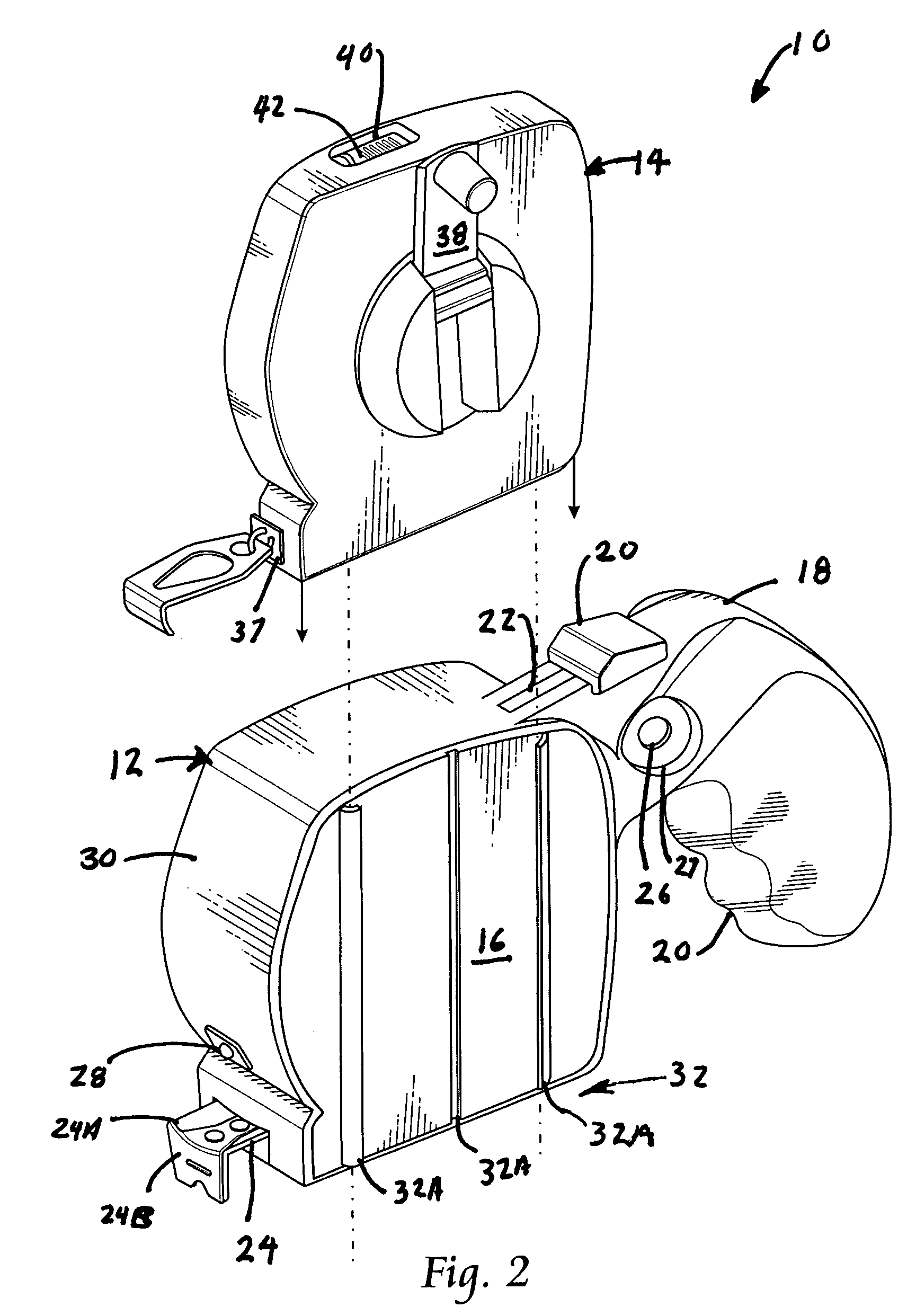 patent us7260899 tape measure having a handle and a removable Hf21kj005 Actuator Motor Wiring Schematic patent drawing