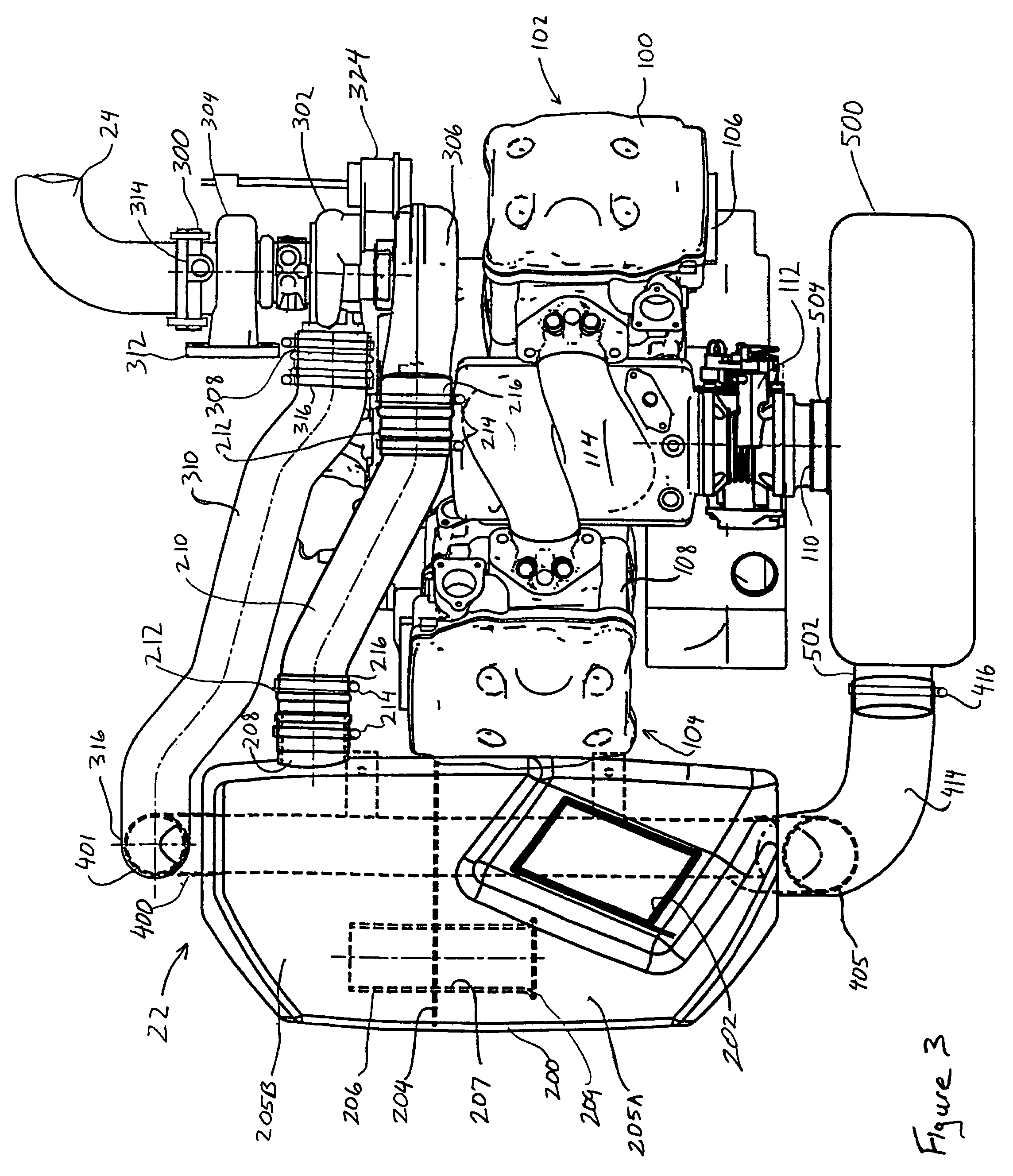 Paccar Fuel Filter Isuzufuelwiring Harness Diagram Images Filters Us07264075 20070904 D00003 Patent Us7264075 Snowmobile With A Turbocharged Four Stroke On Isuzu