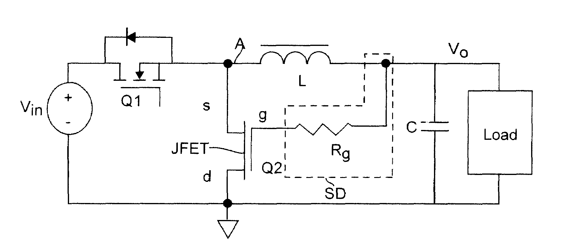 Patent Us7265525 Self Driven Scheme For Synchronous Rectifier Simple Regulator Circuits By Jfet Drawing