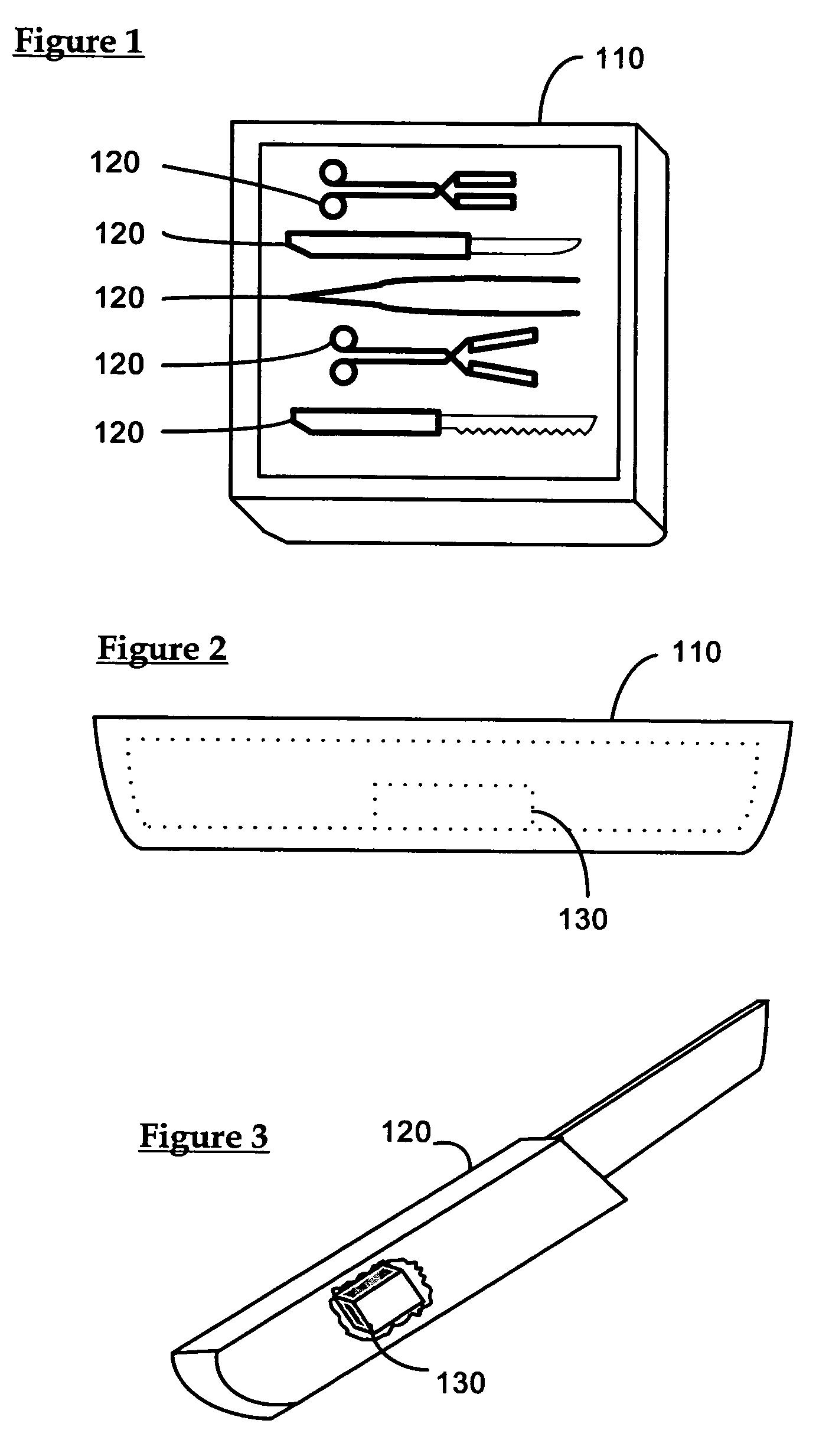 patent us7268684 workstation rfid reader for surgical