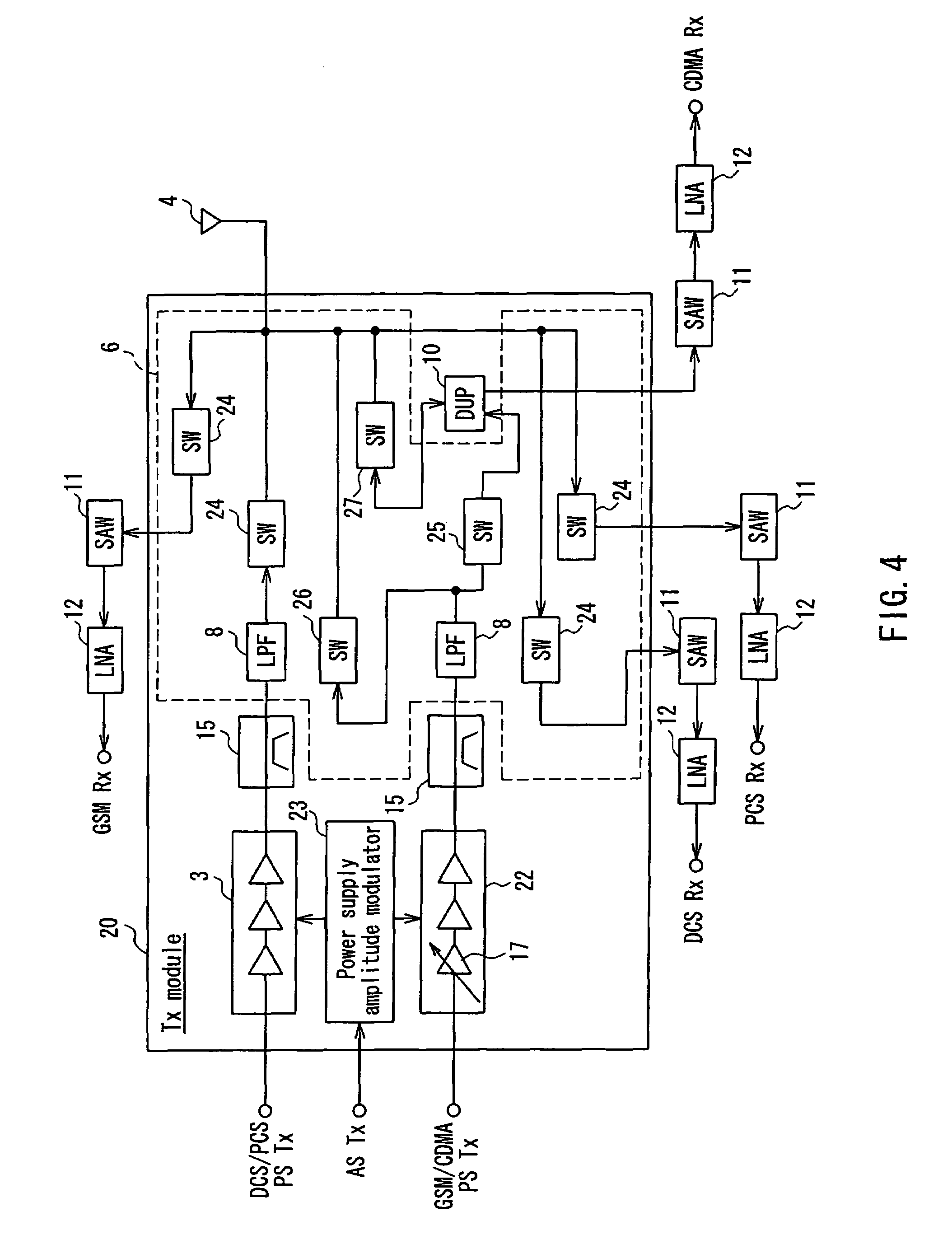 patent us7269156 - high-frequency circuit device