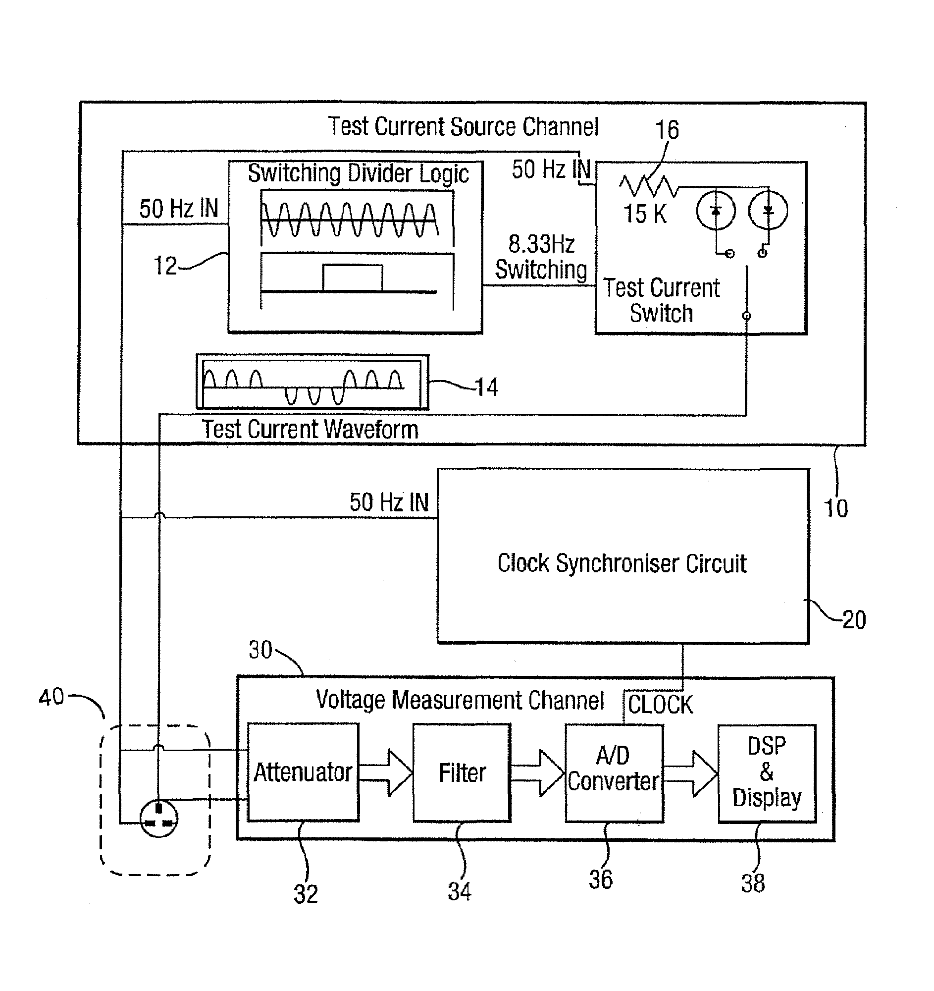 Patent Us7271577 Testing Loop Impedance In An Rccb Electrical Test Ac Circuit Load Tester Drawing
