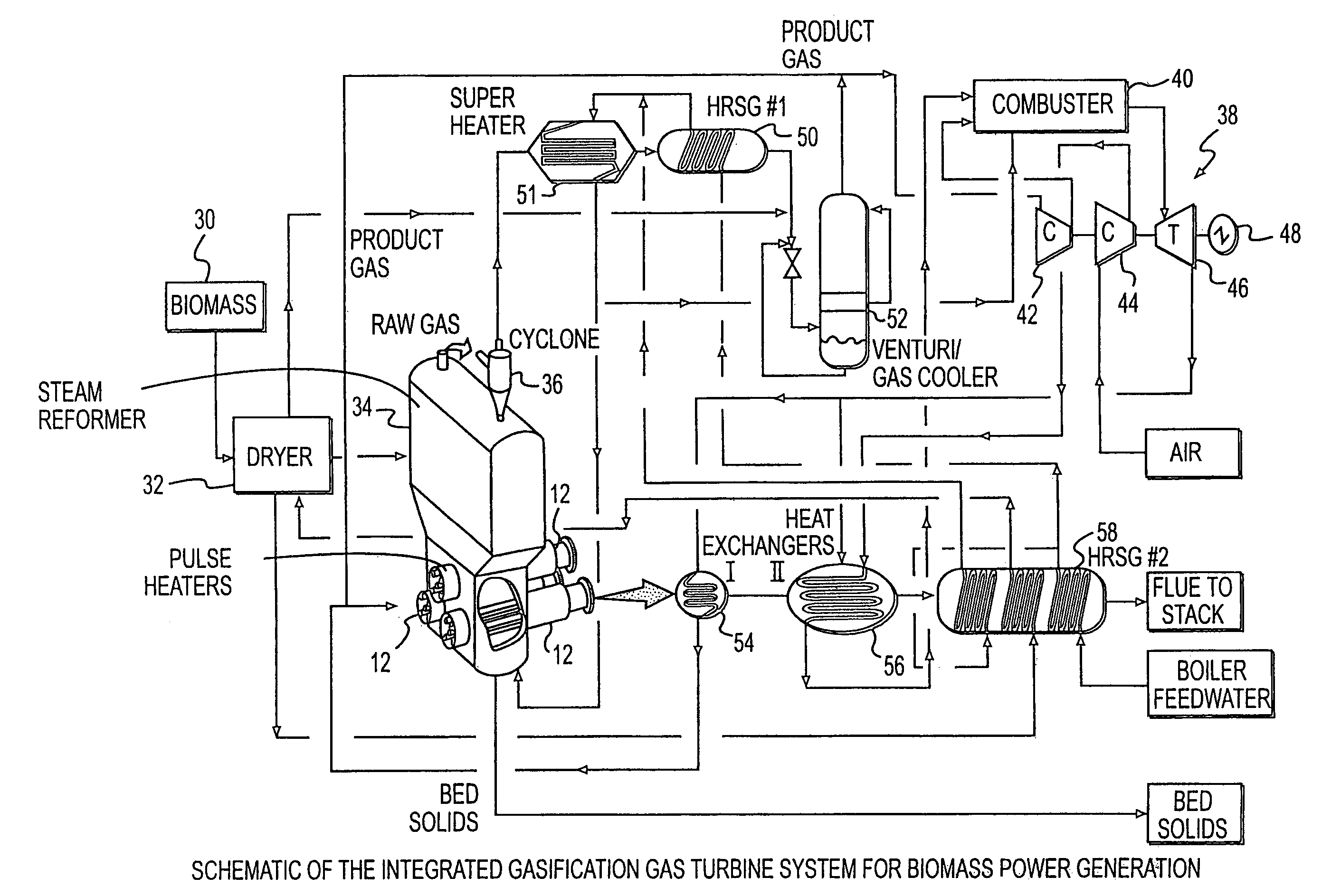 patent us system integration of a steam reformer and gas patent drawing