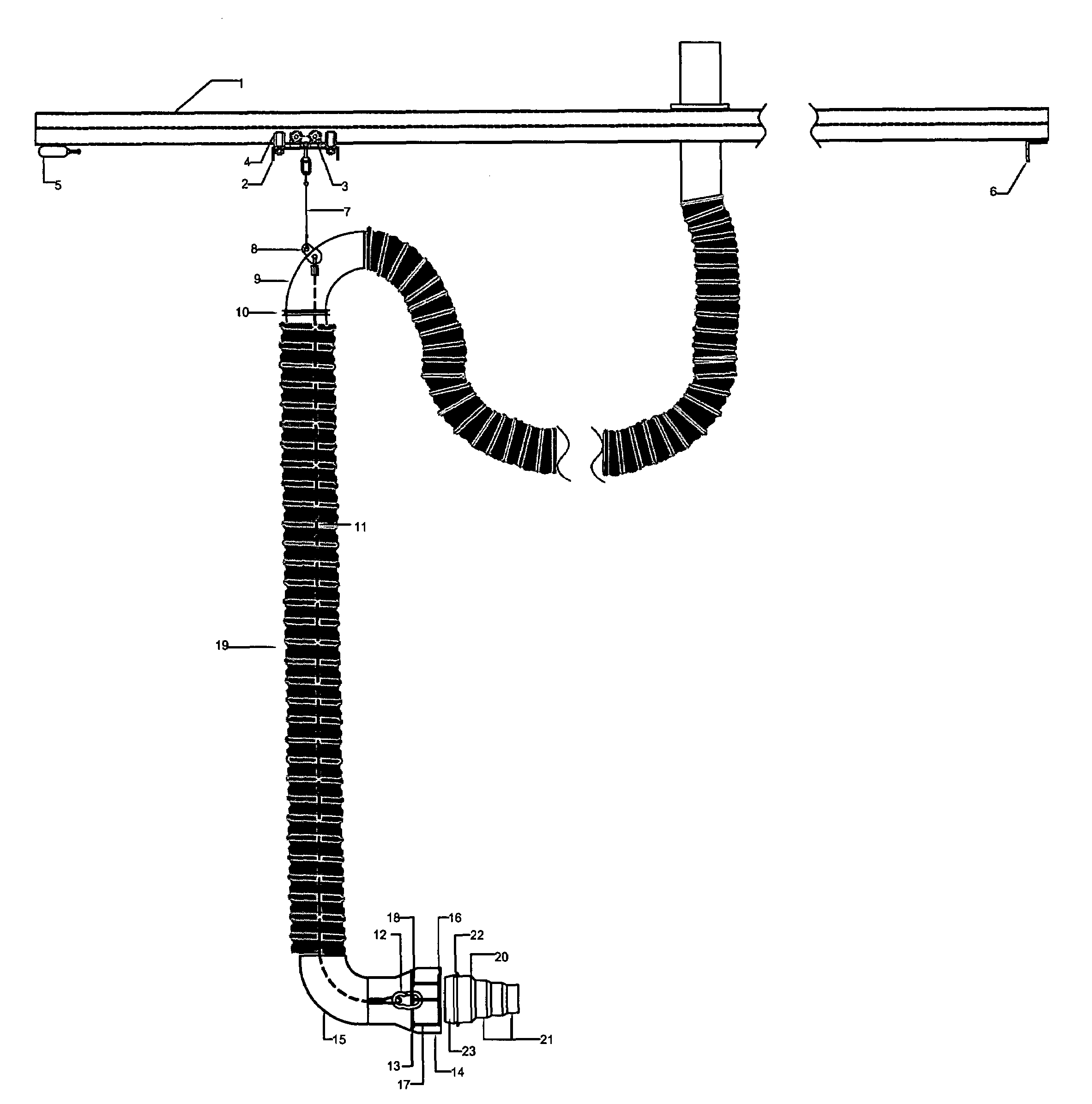 Vehicle Coupling System : Patent us vehicle exhaust system hose and