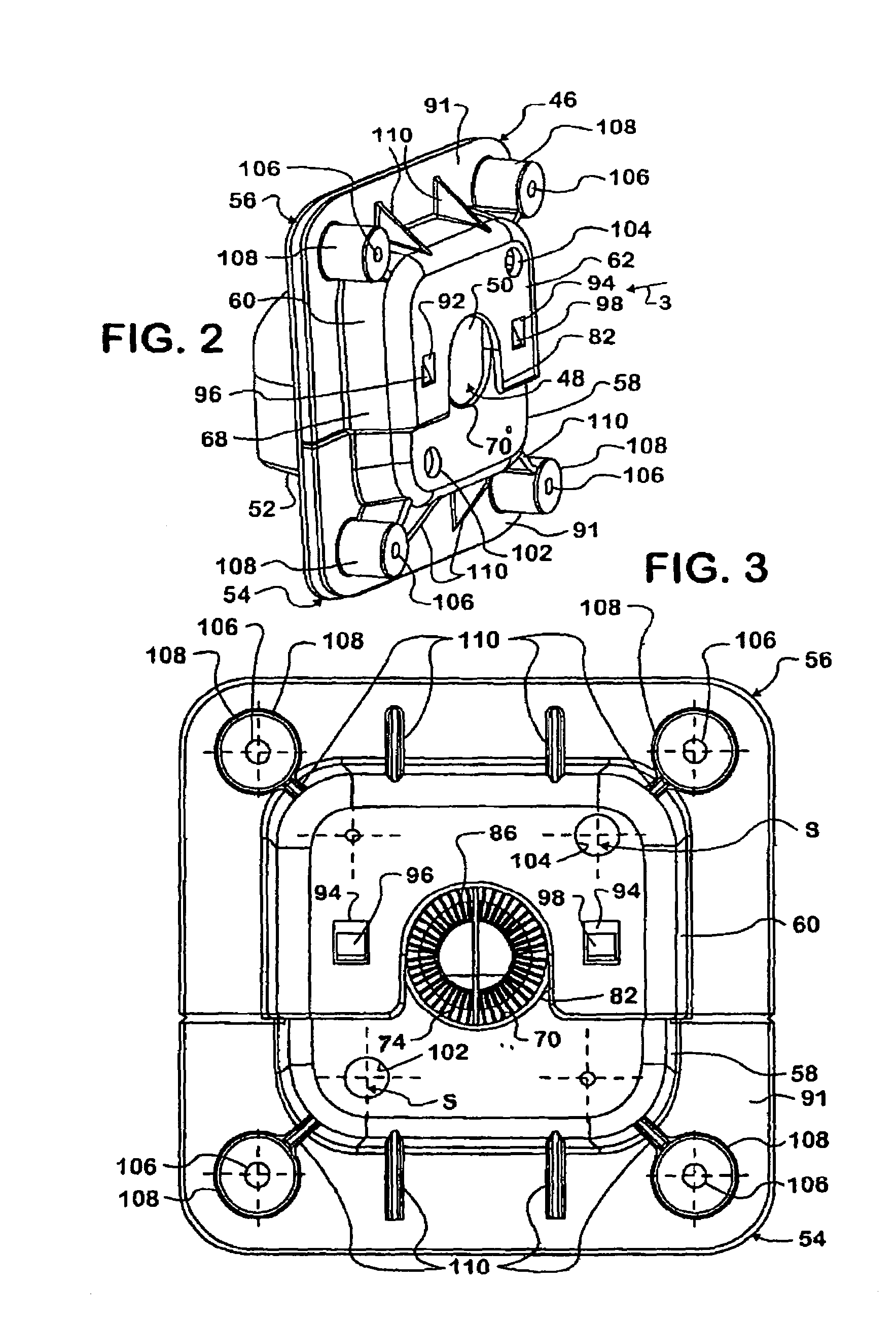 patent us7273986 - two-piece pass-through grommet for a motor vehicle wiring harness