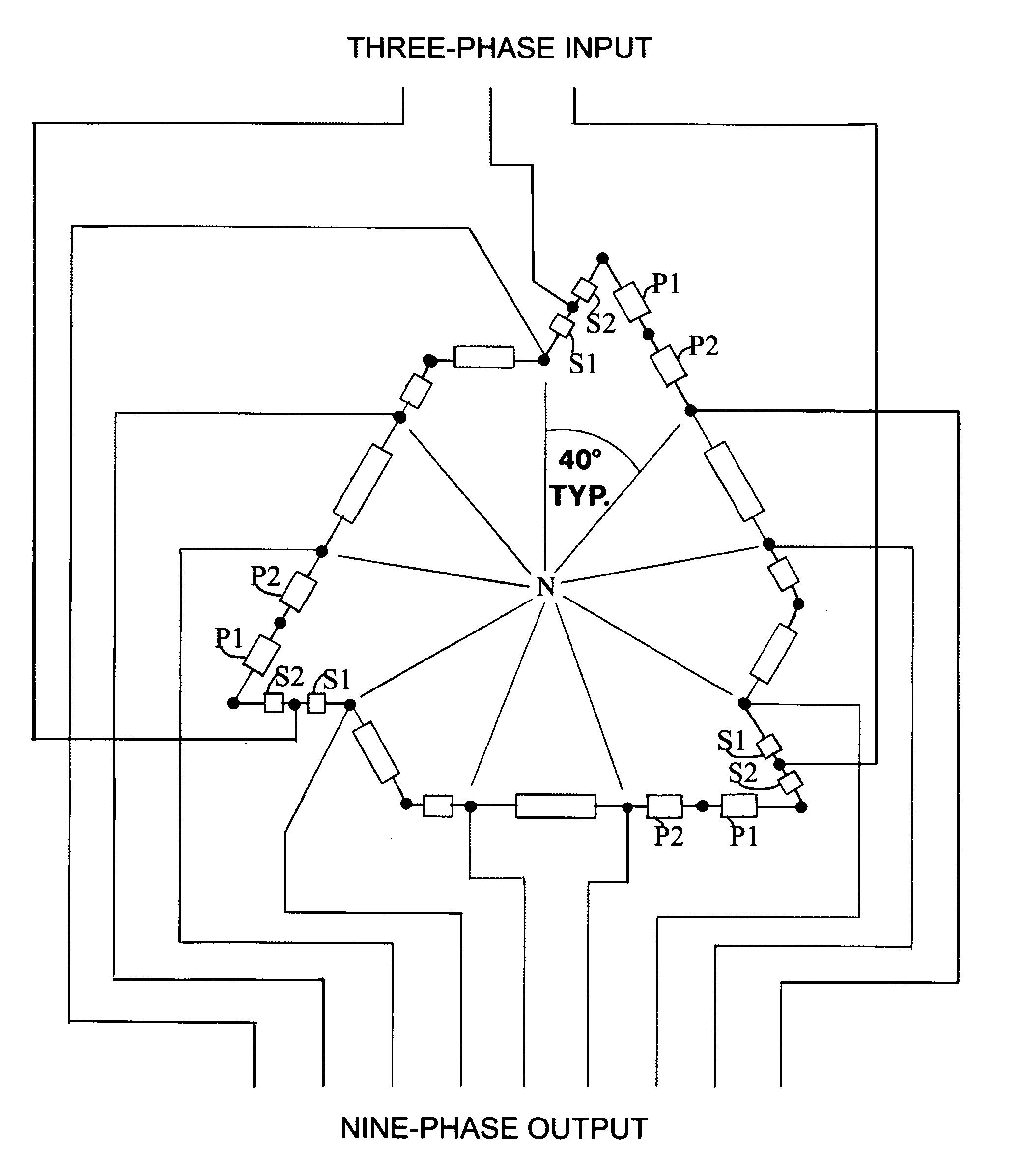 Patent Us7274280 Nine Phase Step Up Down Autotransformer Baldor High Efficiency Wiring Diagram Drawing