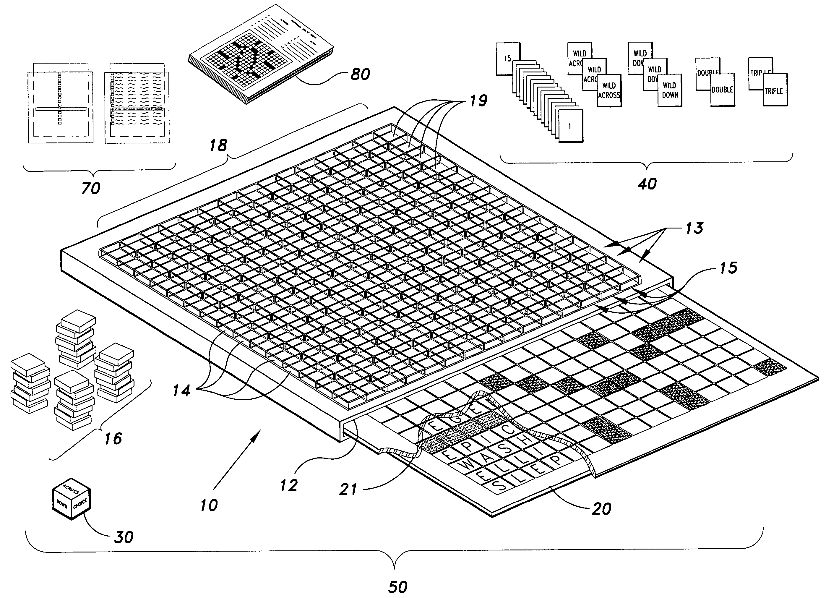 Patent US7275746 - Crossword puzzle board game - Google Patents