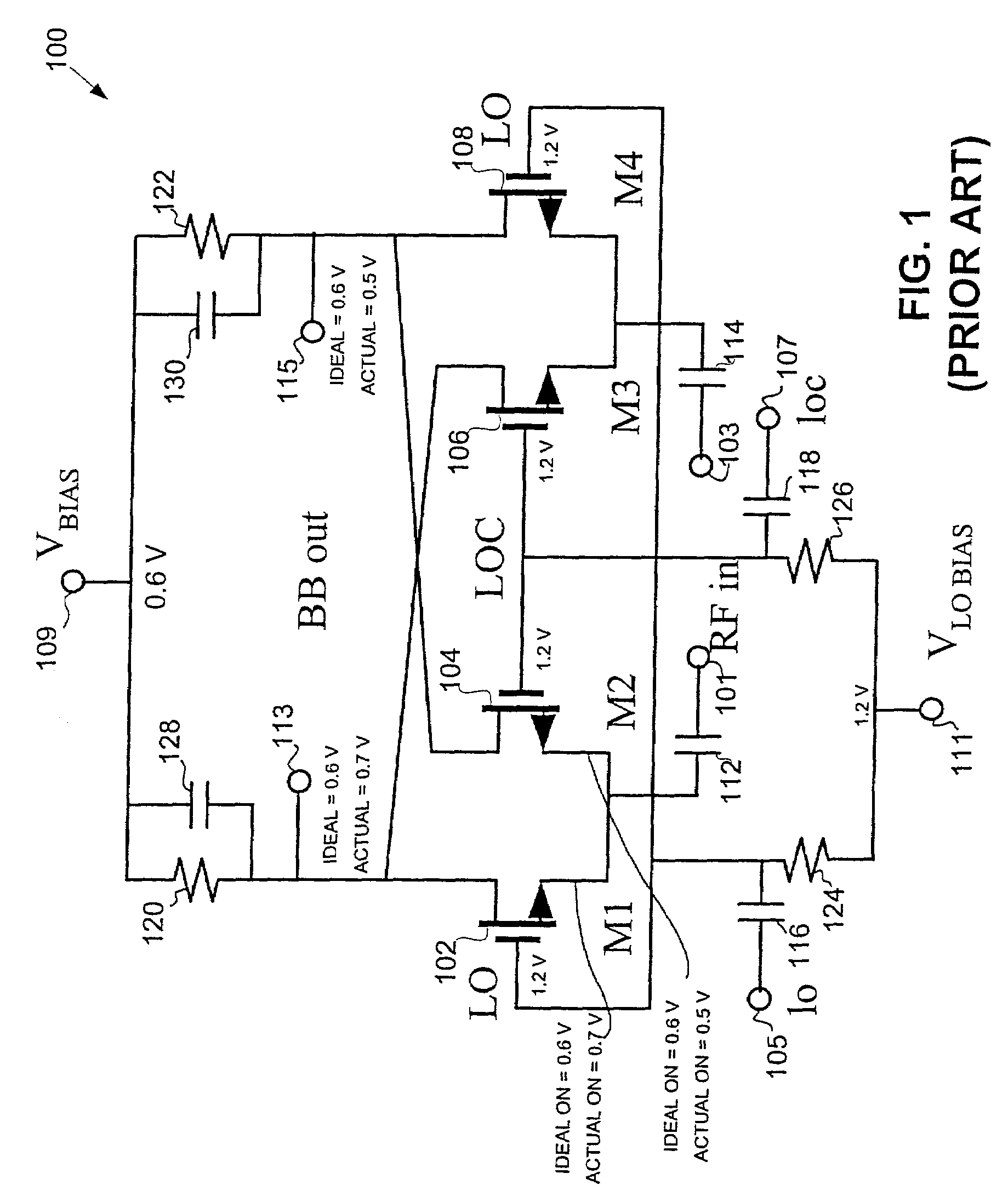 Patent Us7277682 Rf Passive Mixer With Dc Offset Tracking And The Circuit Below Shows All Of These Improvements Heterodyne Drawing