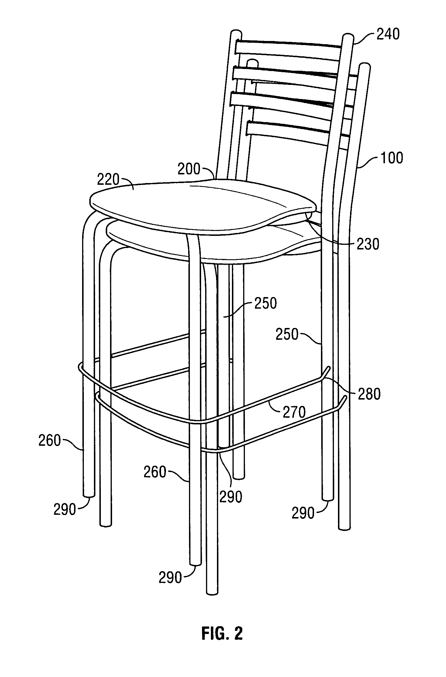 Patent US System and method for bar stool height