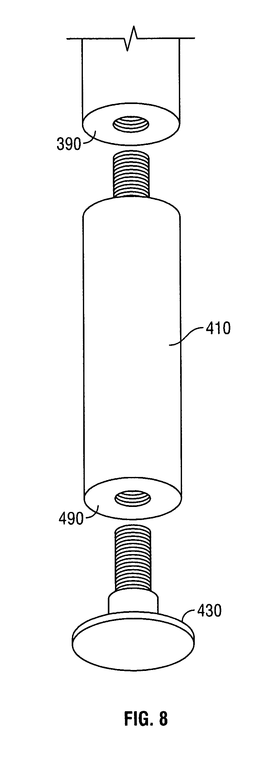 Patent Drawing - Patent US7278687 - System And Method For Bar Stool Height