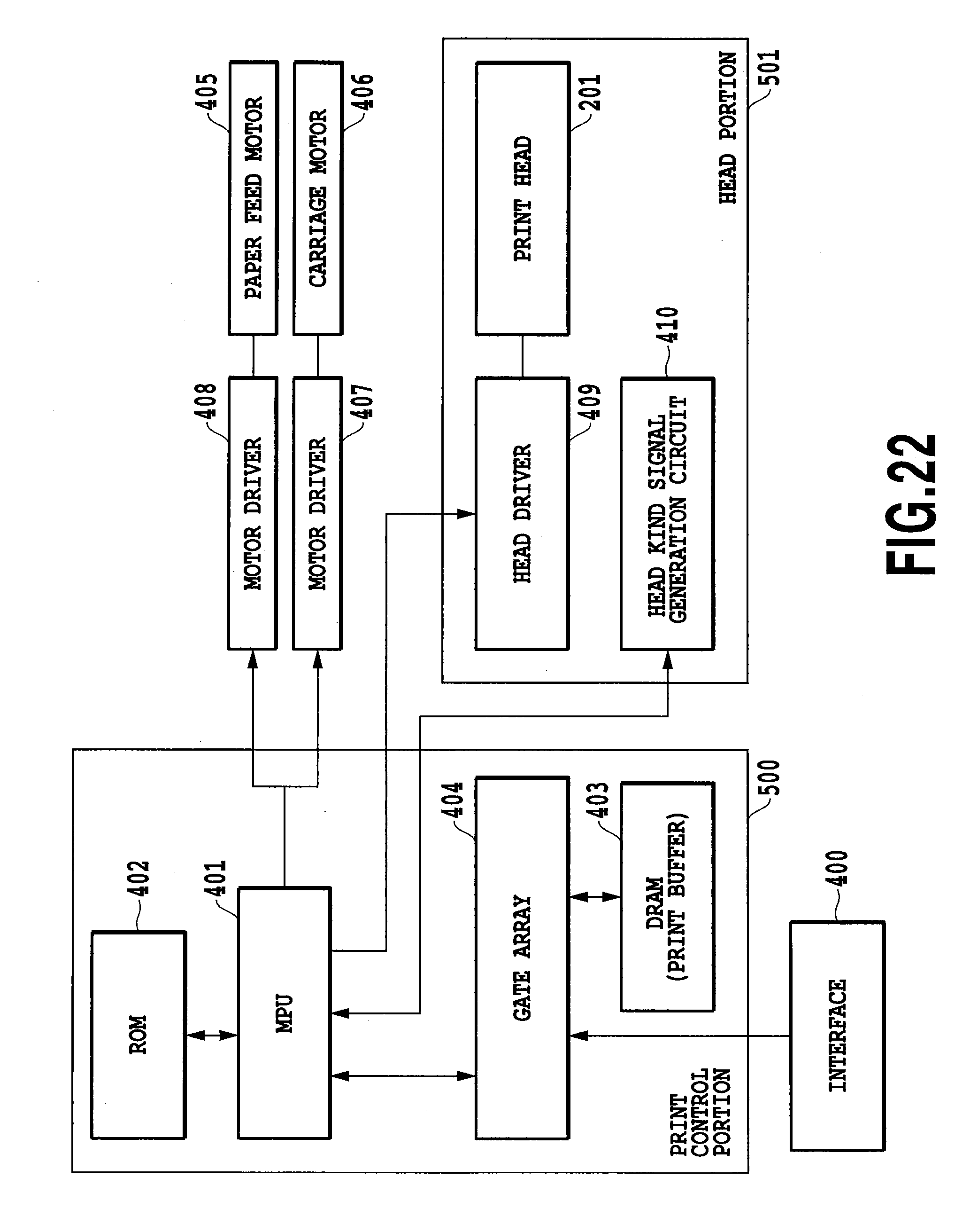 Patent Us7287823 Ink Jet Printing Apparatus And Refill Dataprint Black Drawing