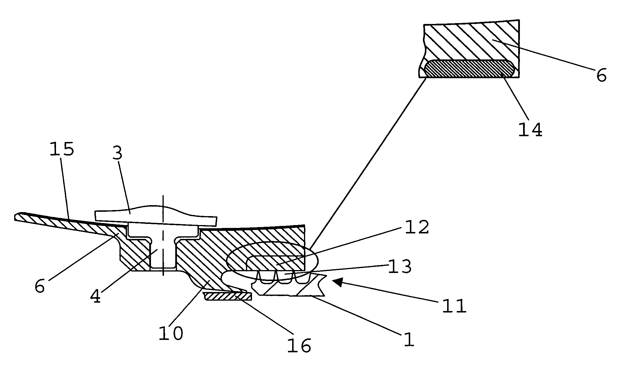 Patent US Inner shroud for the stator blades of the