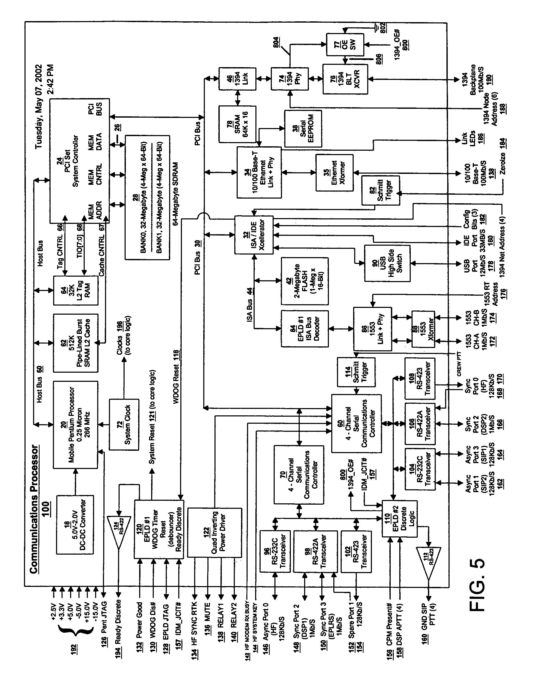 patent us7293128 - data modem