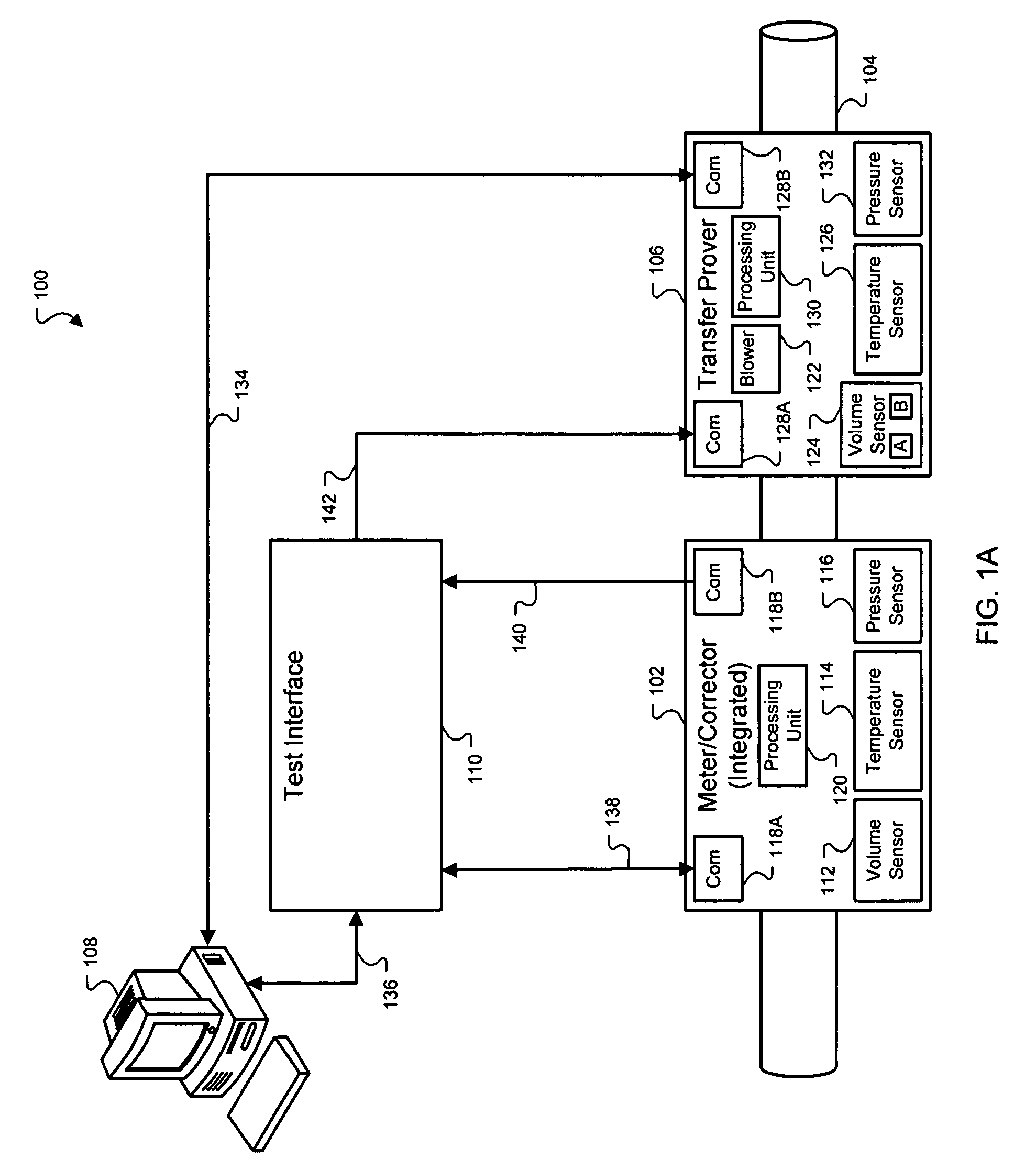 US07299139 20071120 D00001 patent us7299139 measuring gas meter and volume corrector Basic Electrical Wiring Diagrams at eliteediting.co