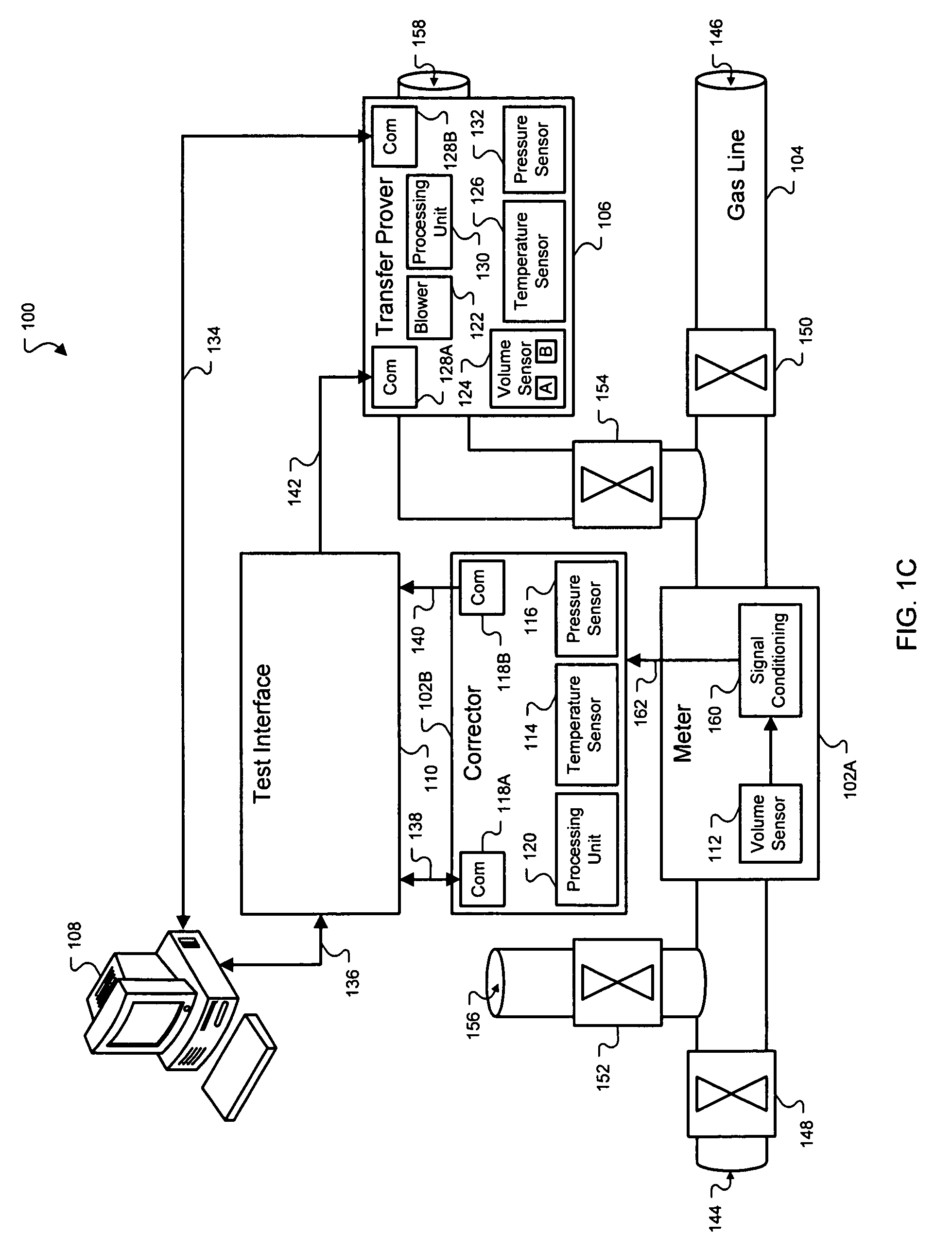US07299139 20071120 D00003 patent us7299139 measuring gas meter and volume corrector Basic Electrical Wiring Diagrams at eliteediting.co