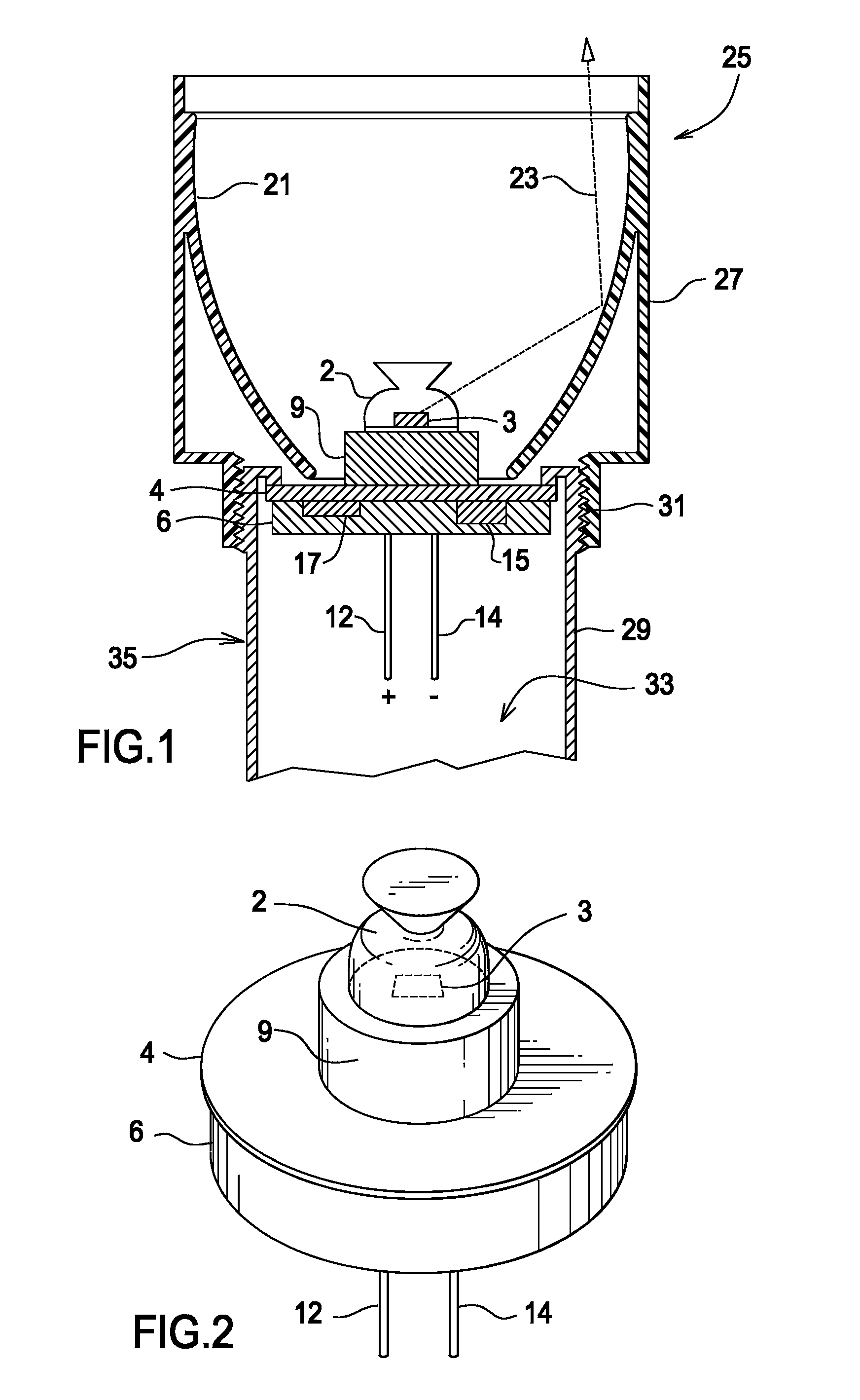 patent us7300173 - replacement illumination device for a miniature flashlight bulb