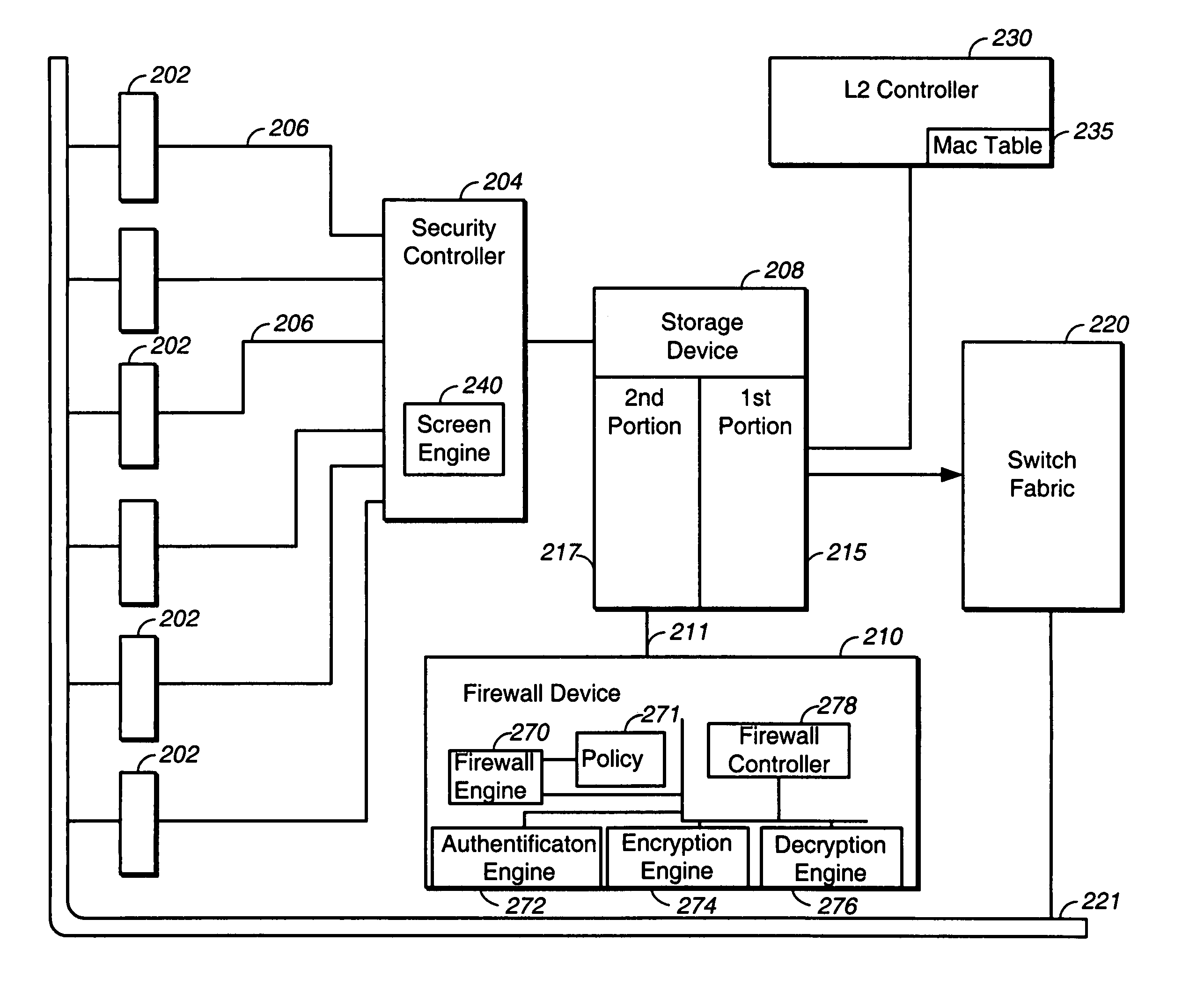 patent us7302700  layer 7 firewall in an l2