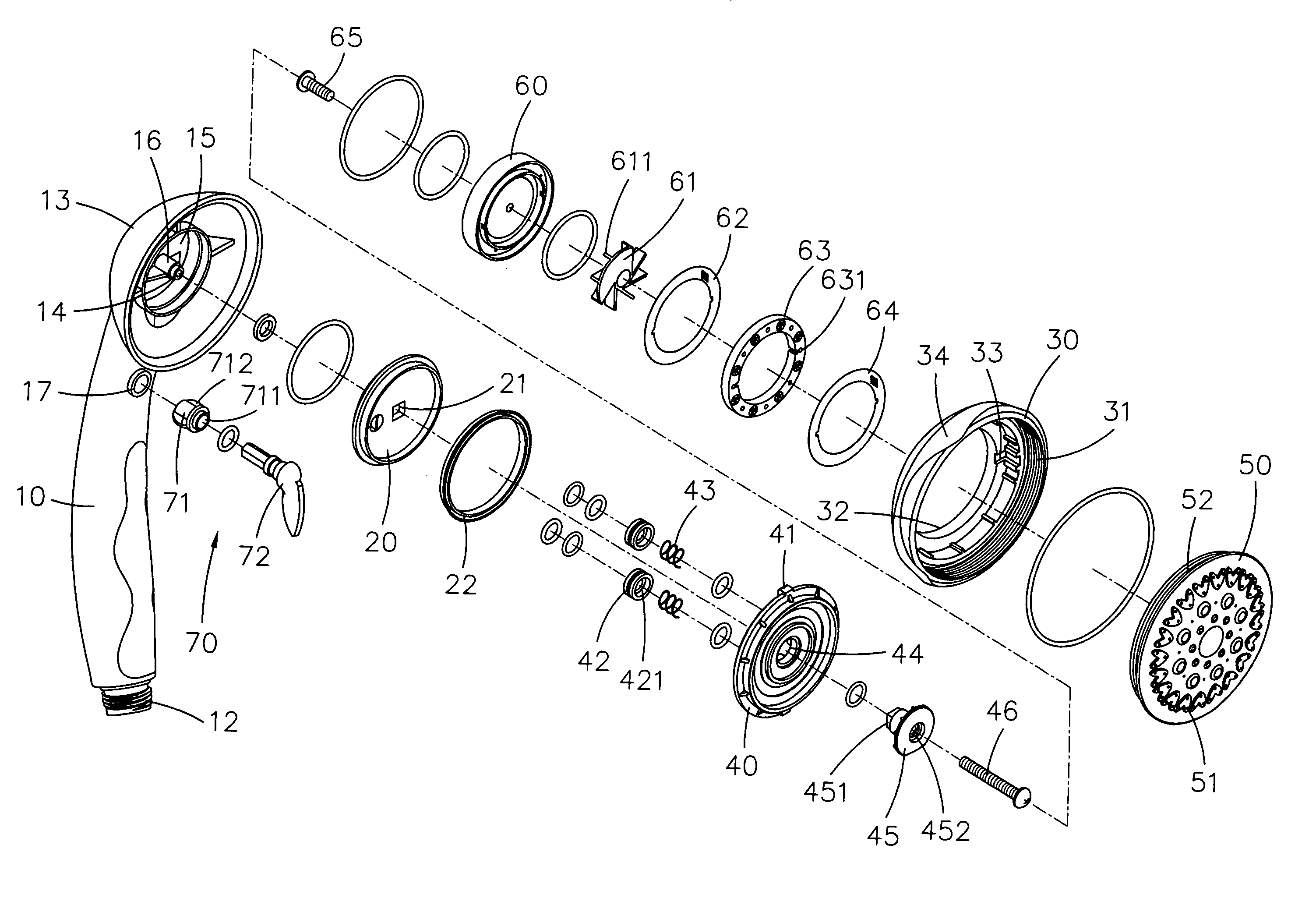 patent us7303151 - shower head assembly - google patents