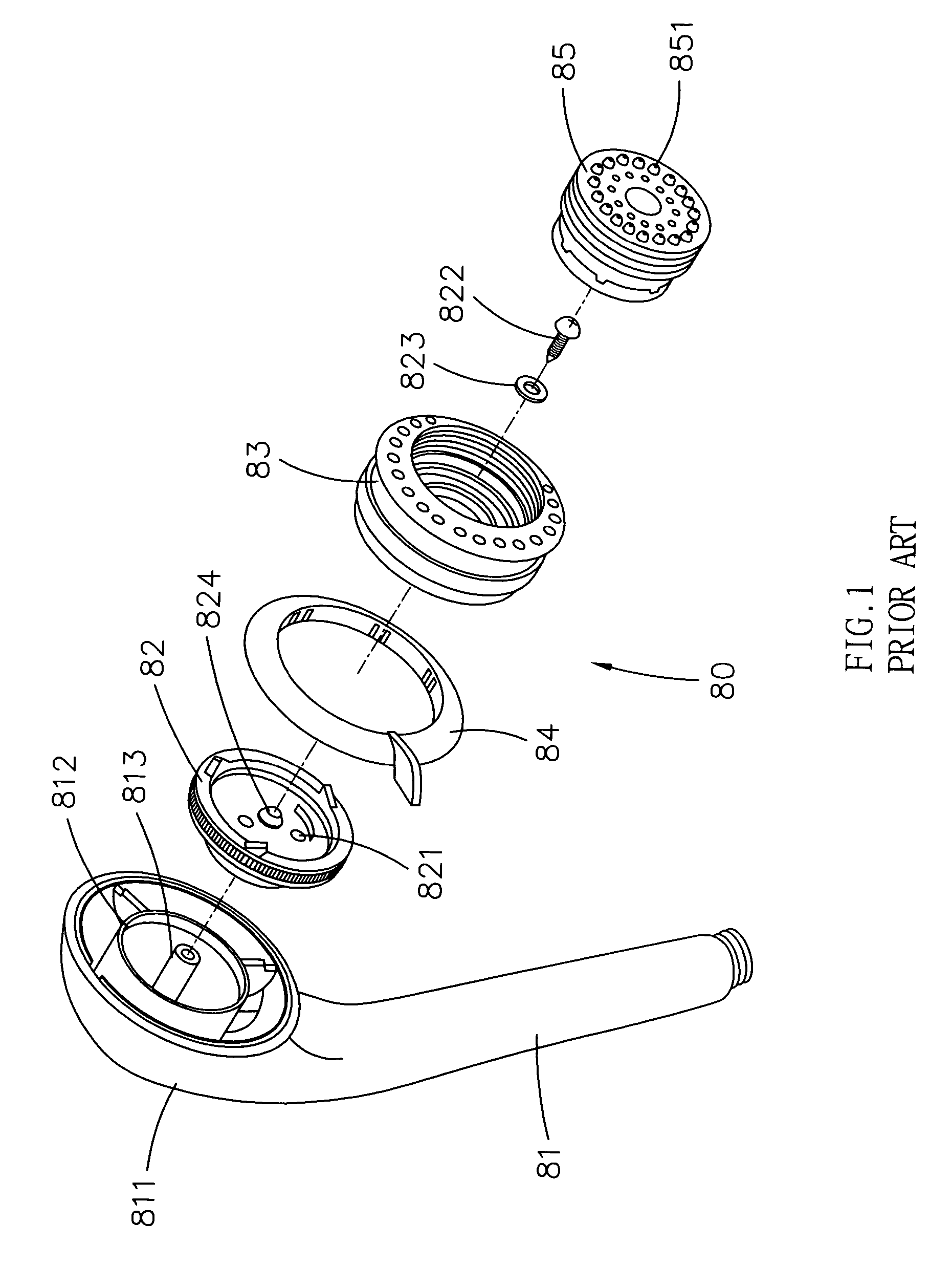 Shower Head Drawing patent us7303151 - shower head assembly - google patents