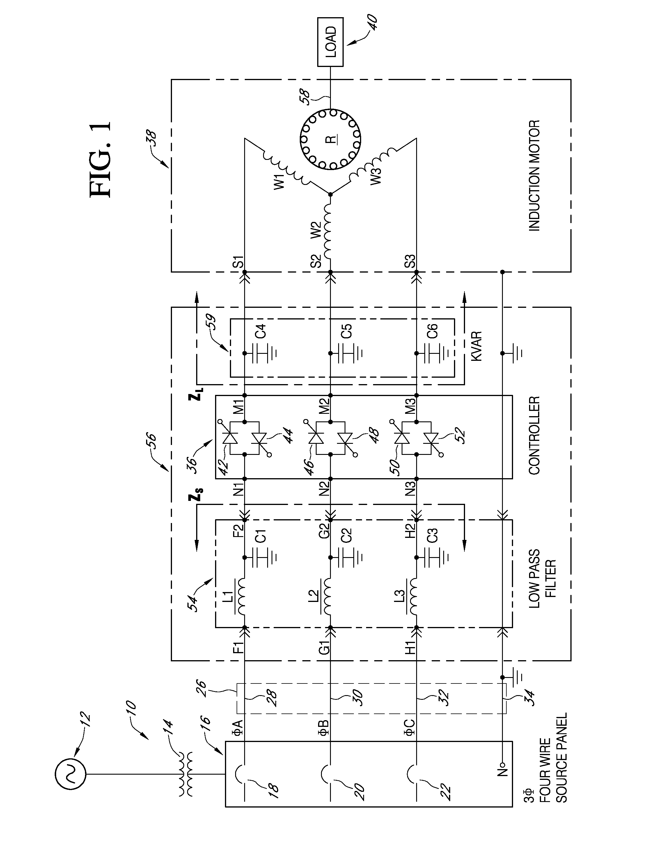 Patent us7309973 mitigation of harmonic currents and for Linear induction motor winding