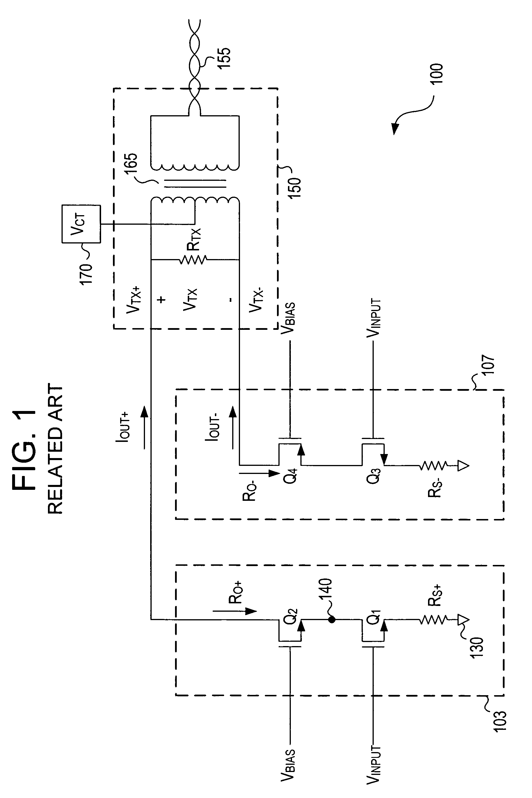 Patent Us7312662 Cascode Gain Boosting System And Method For A Differential Circuit Driver Drawing