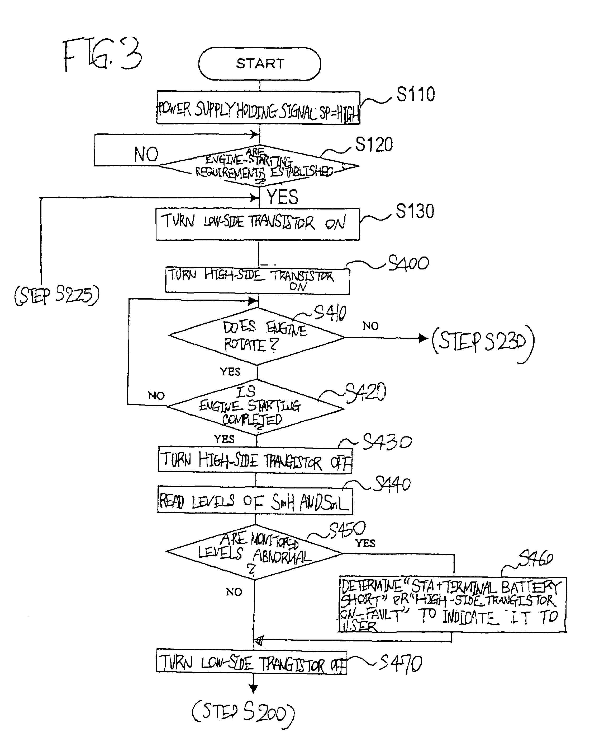 Patent Us7312968 Starter Relay Control Circuit With Self Fault Schematic Diagram Relaycontrol Controlcircuit Drawing