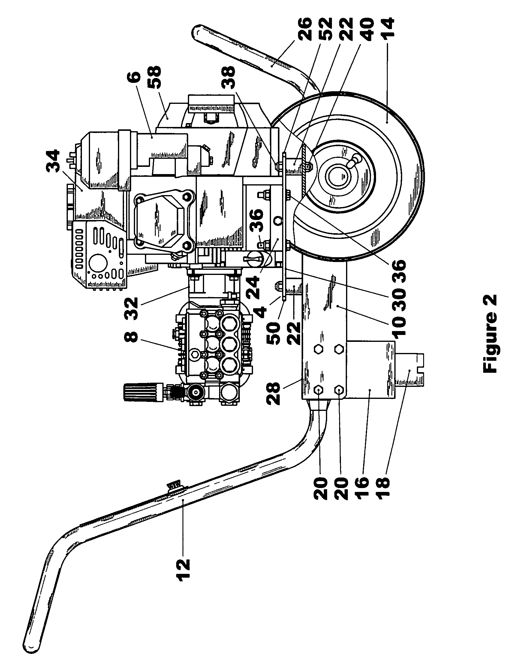 patent us7316286 pressure washer with vibration d ener Cable Wiring Diagram patent drawing