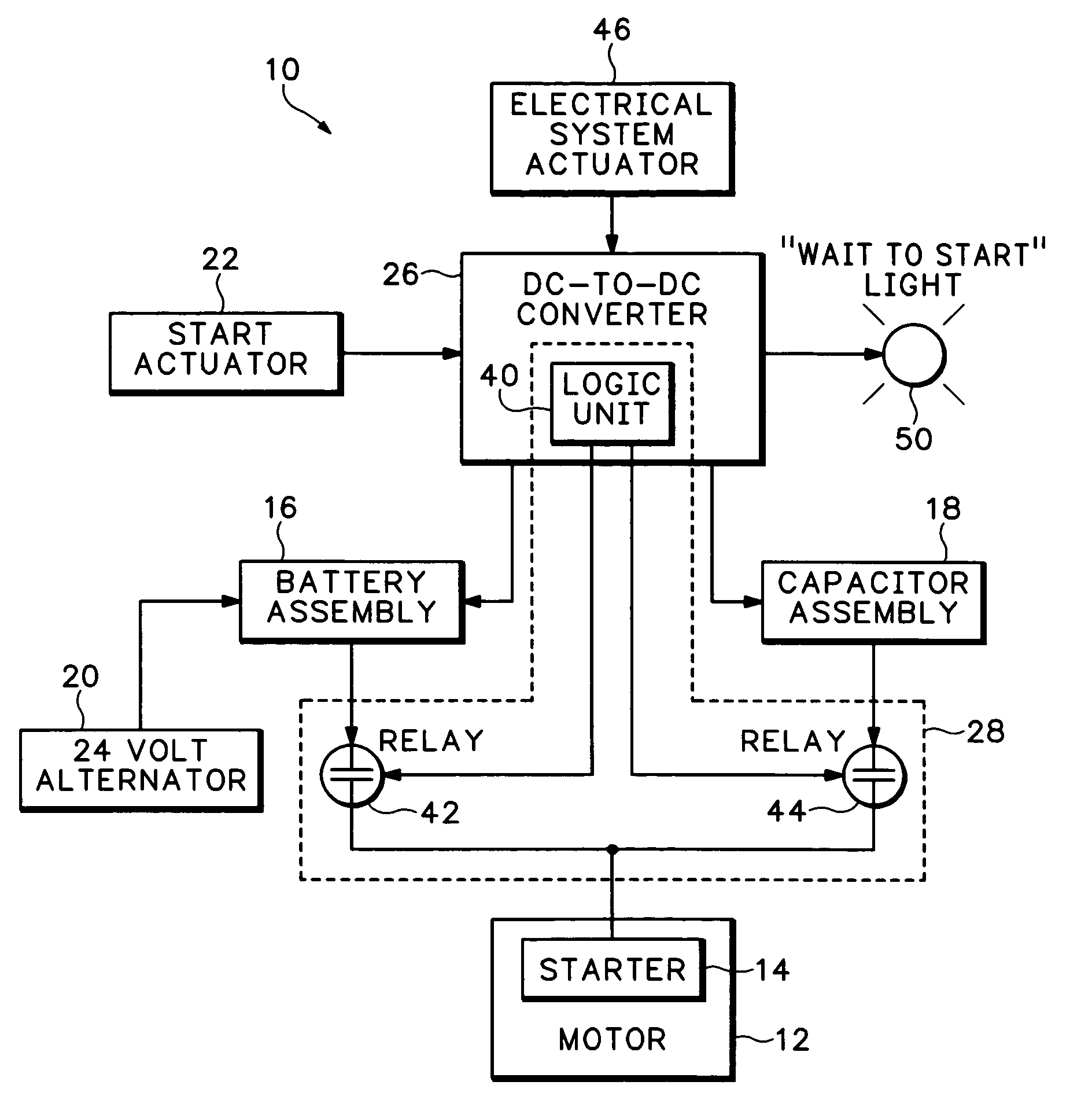 Patent Us7319306 Supercapacitor Engine Starting System With Charge 42 What Happens When A Circuit Is On The Complete Lights Drawing