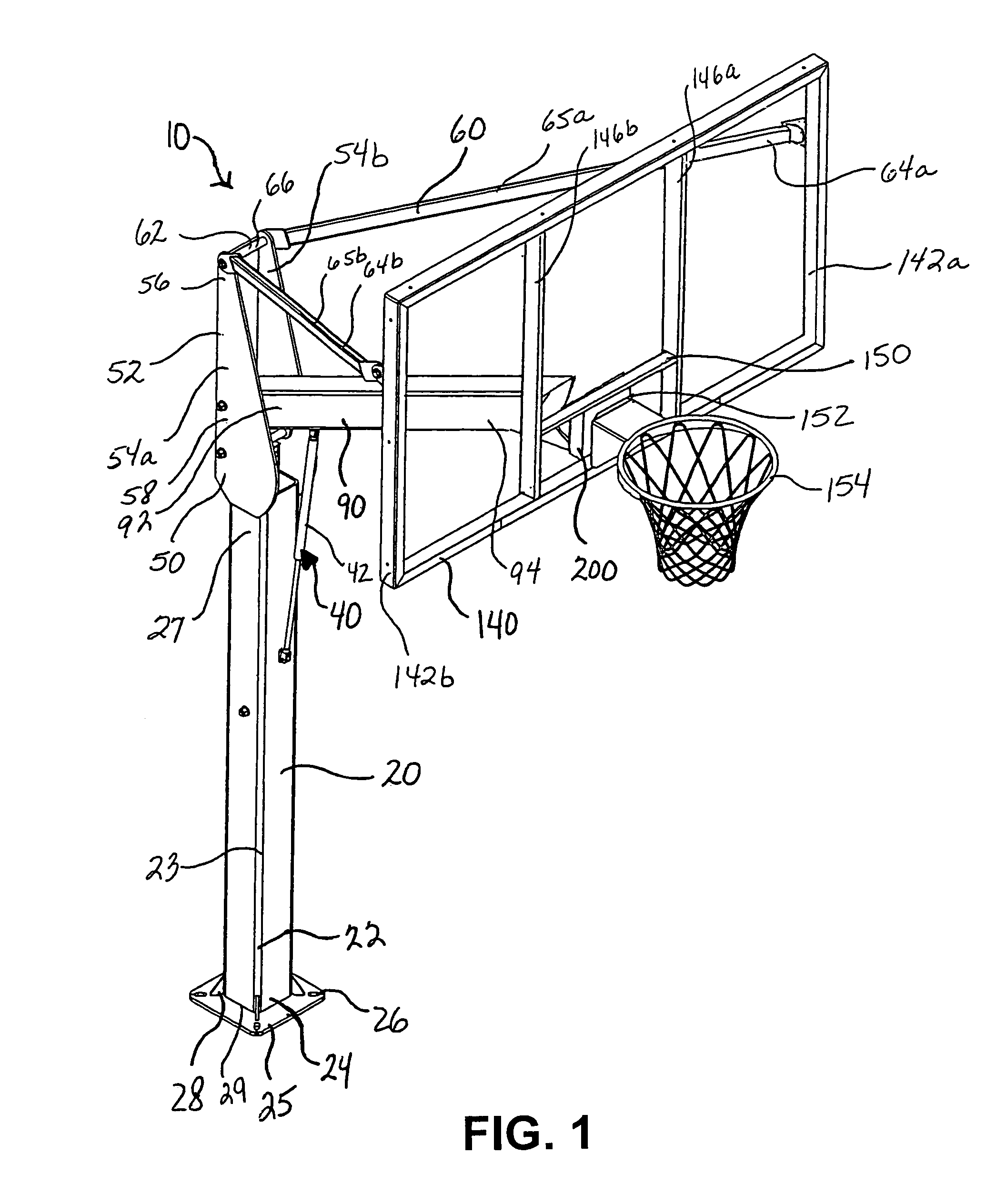 Black And White Basketball Court Diagram Basketball goal systems