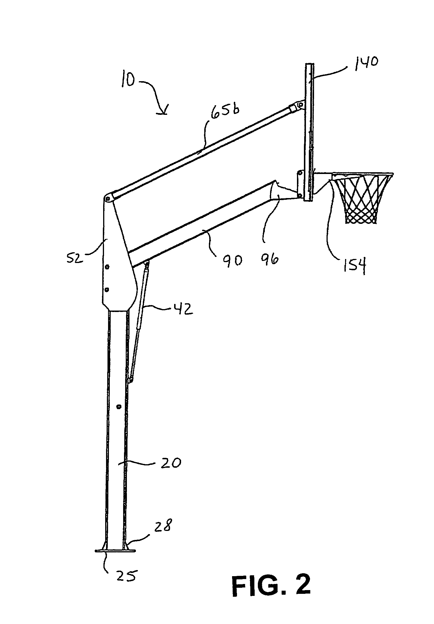 patent us7320652 - basketball goal systems