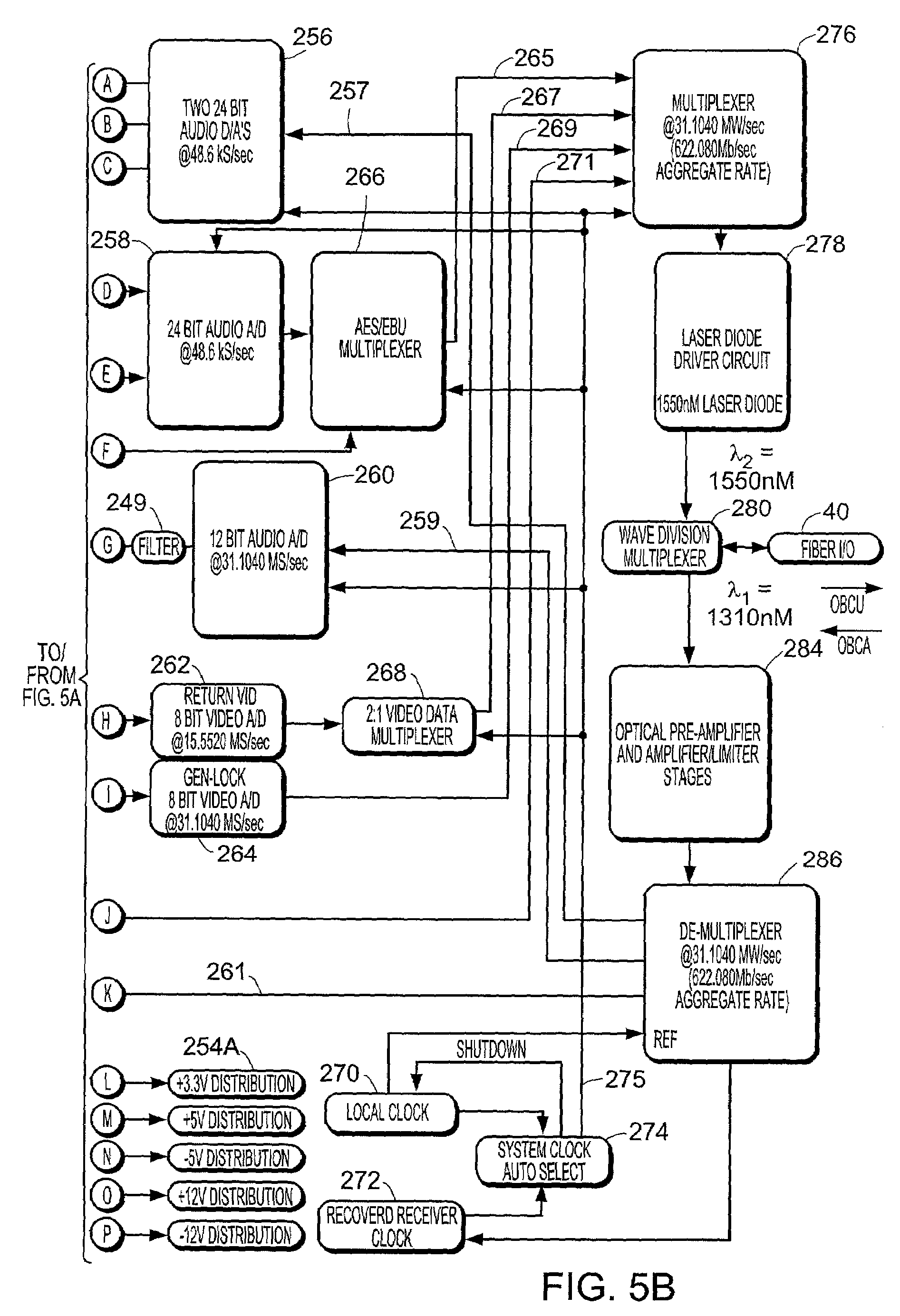 patent us7327959 camera mountable fiber optic transceiver system patent drawing