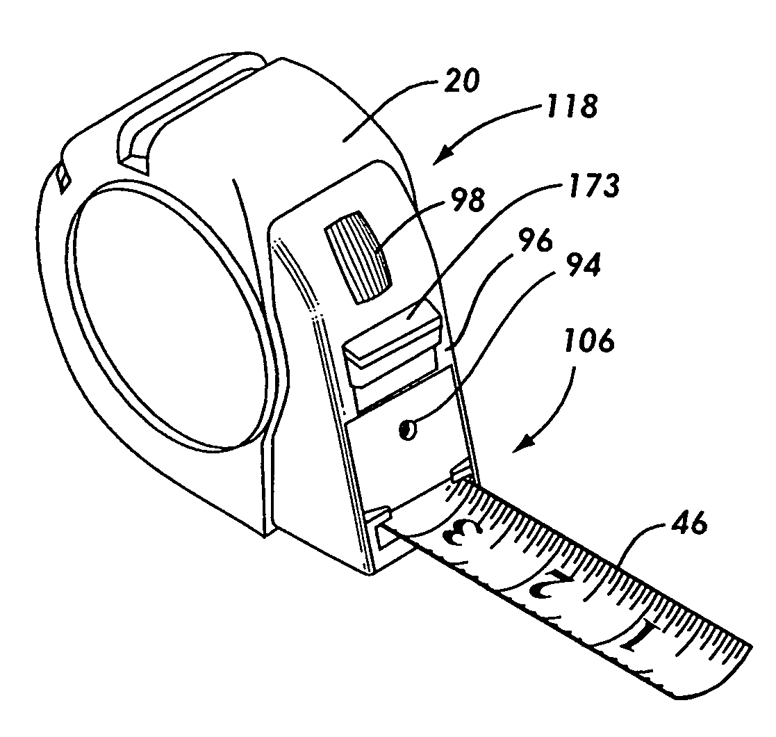 Drawing Lines With Measurements : Patent us tape measure that incorporates a chalk