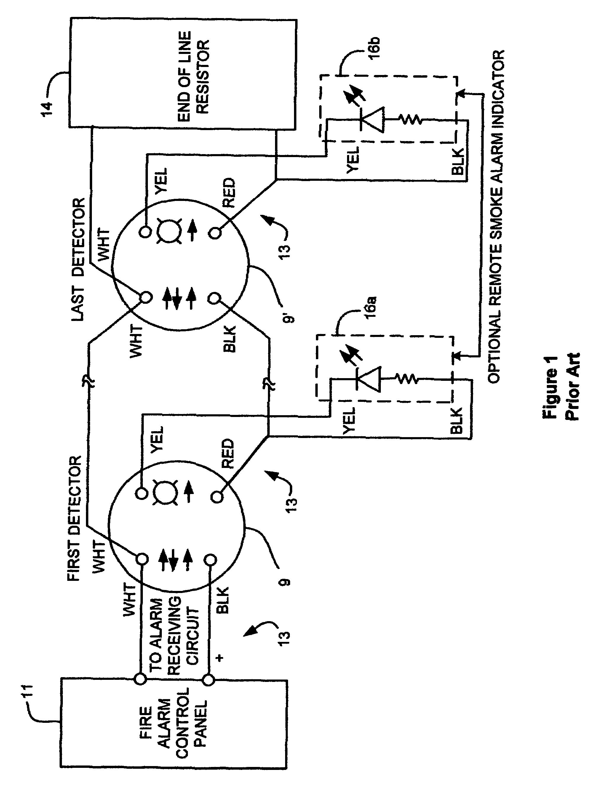 US07336165 20080226 D00001 patent us7336165 retrofitting detectors into legacy detector tamper and flow switch wiring diagrams at n-0.co
