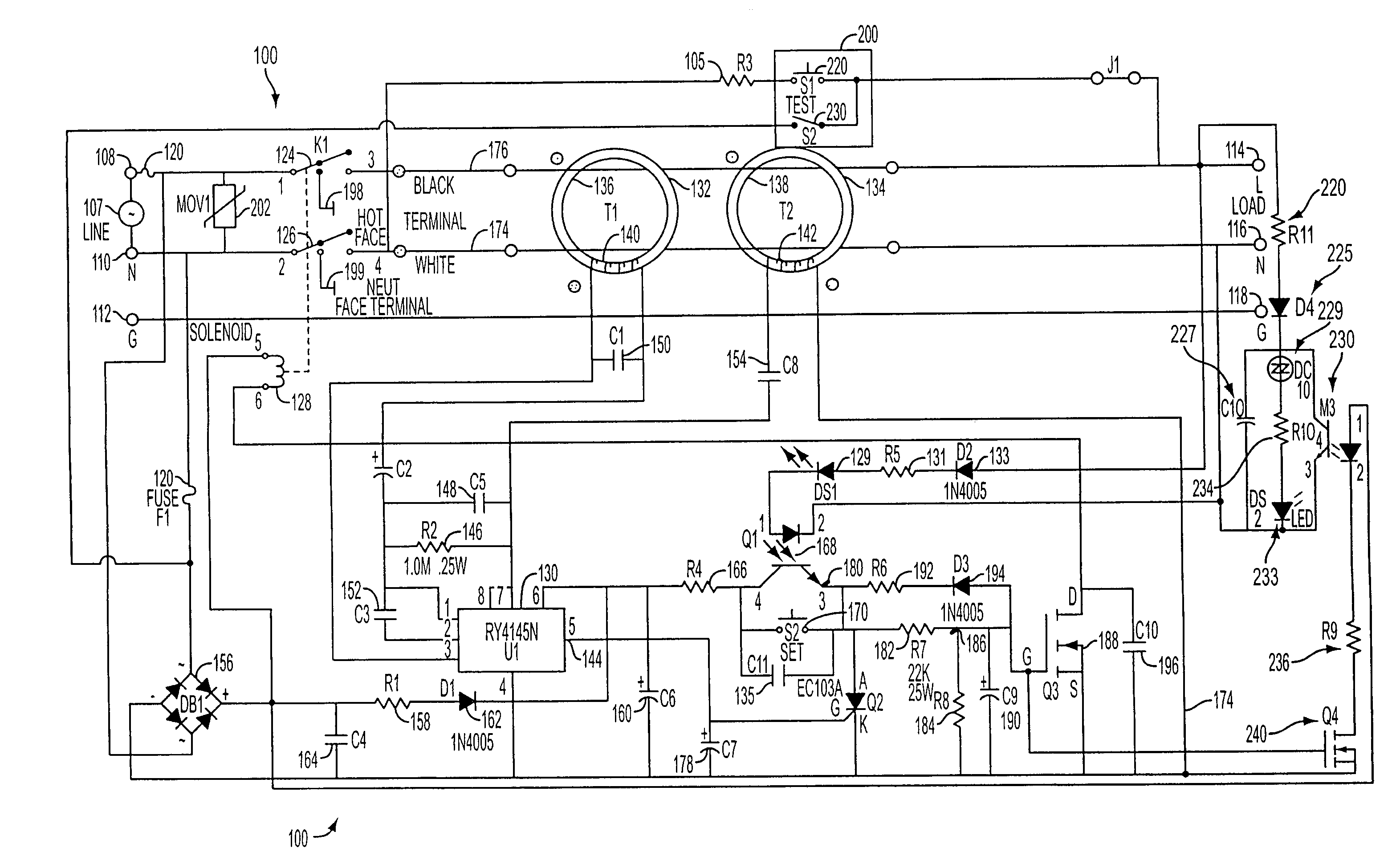 Gfci Circuit Diagram 20 Wiring Images Diagrams Gfi Internal Us07336457 20080226 D00000 Patent Us7336457 Ground Fault Interrupter End Of