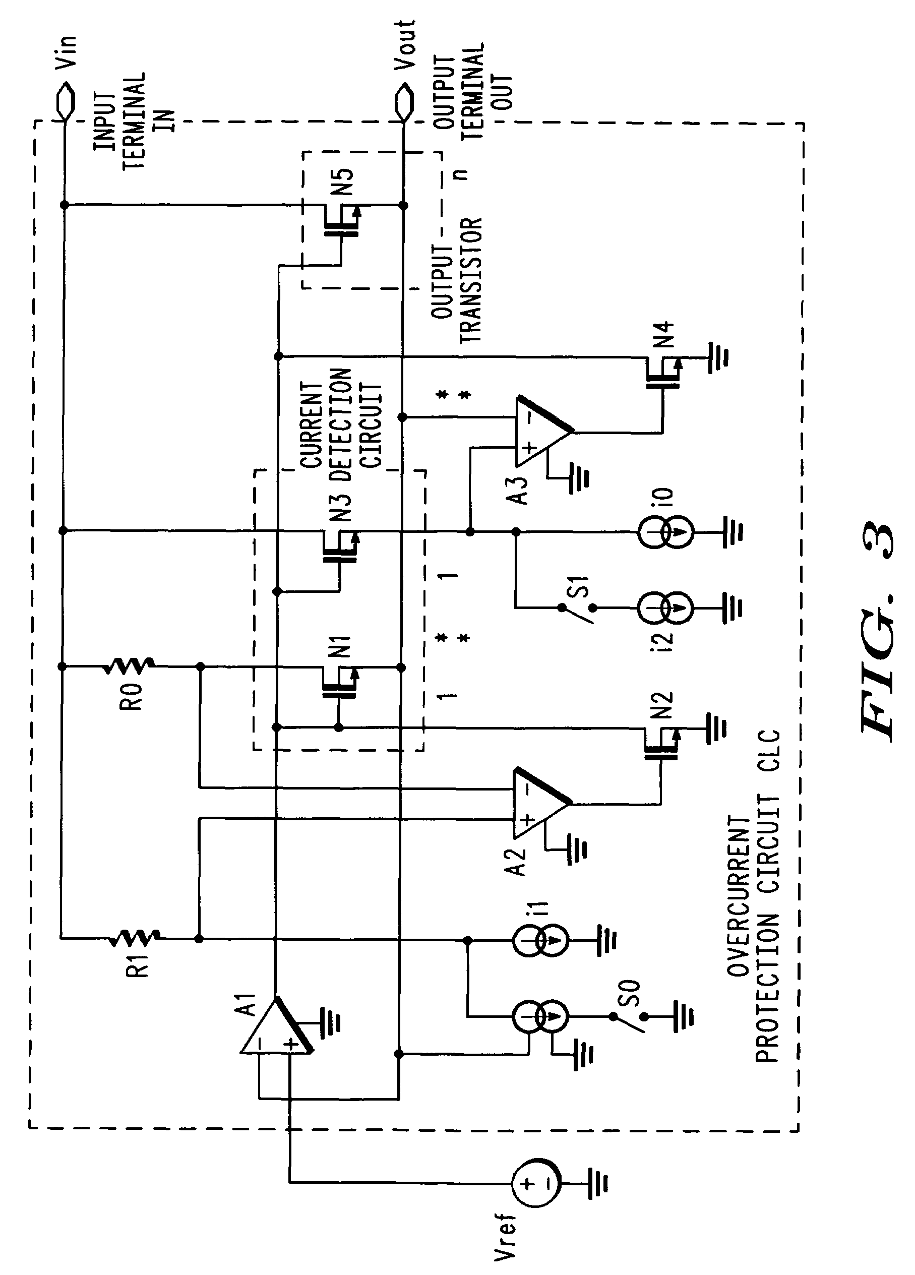 Patent Us7339775 Overcurrent Protection Circuit And Dc Power Foldback Current Limiting Drawing