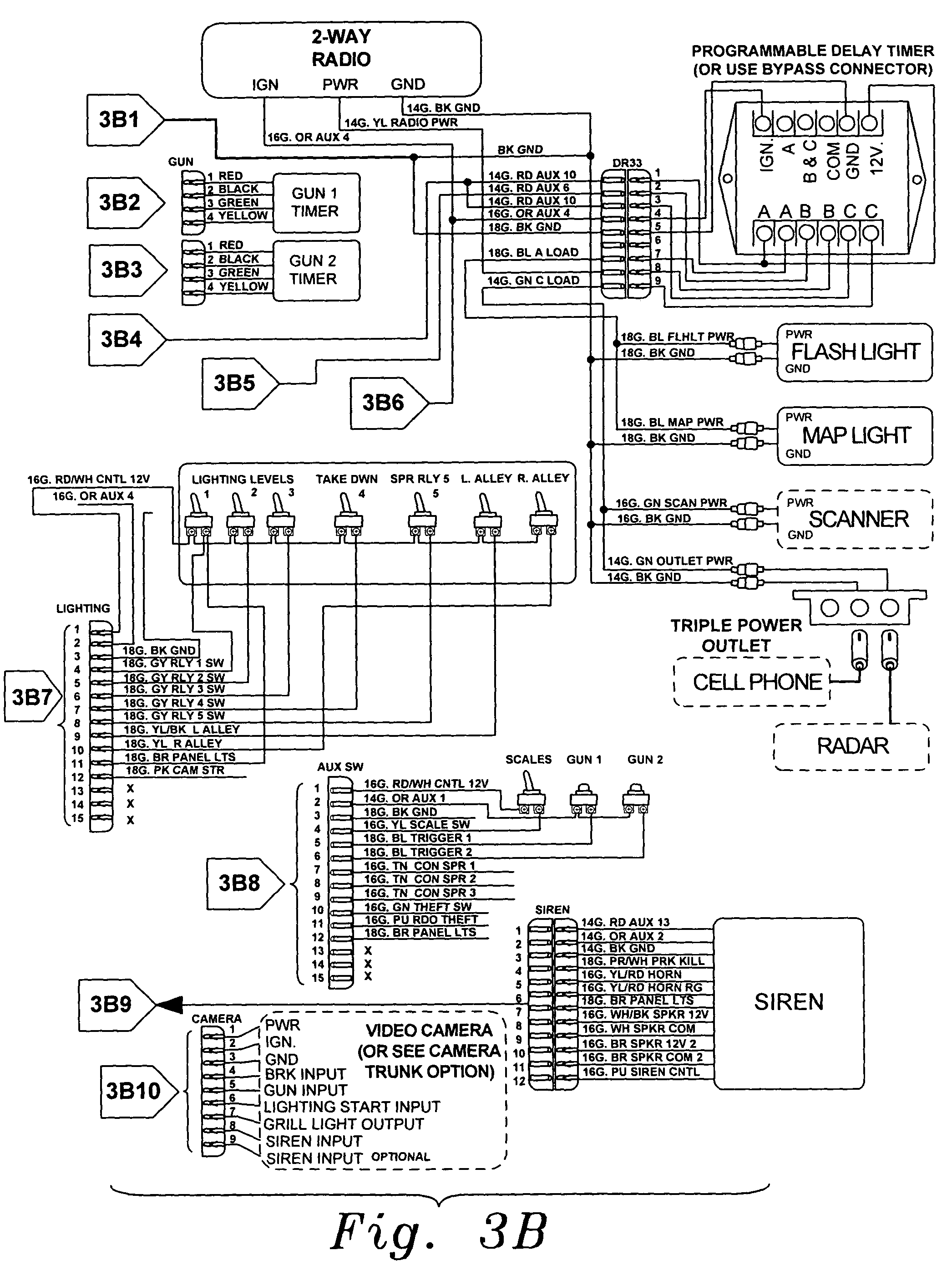 US07342325 20080311 D00005 code 3 siren wiring diagram car alarm circuit diagram \u2022 wiring  at creativeand.co