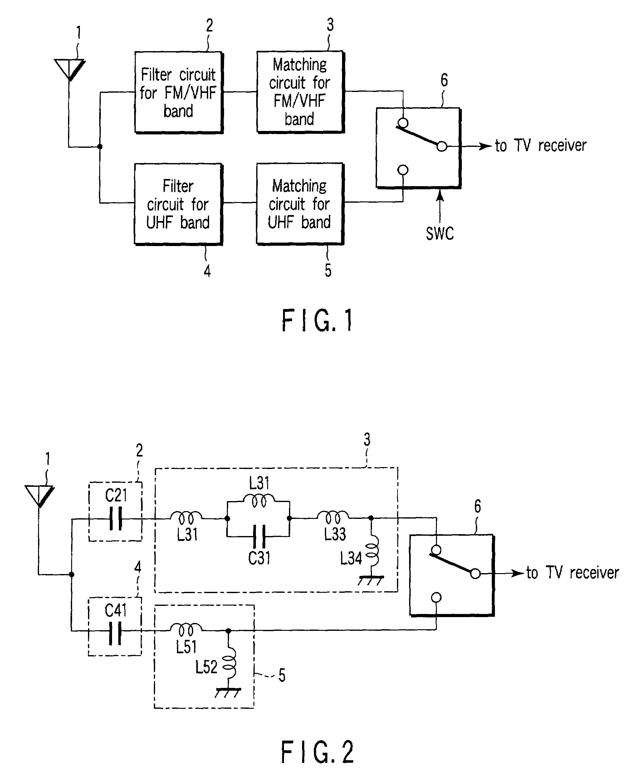 Patent Us7348931 Unbalanced Power Feeding Antenna Device For L Filter Circuit Diagram Drawing