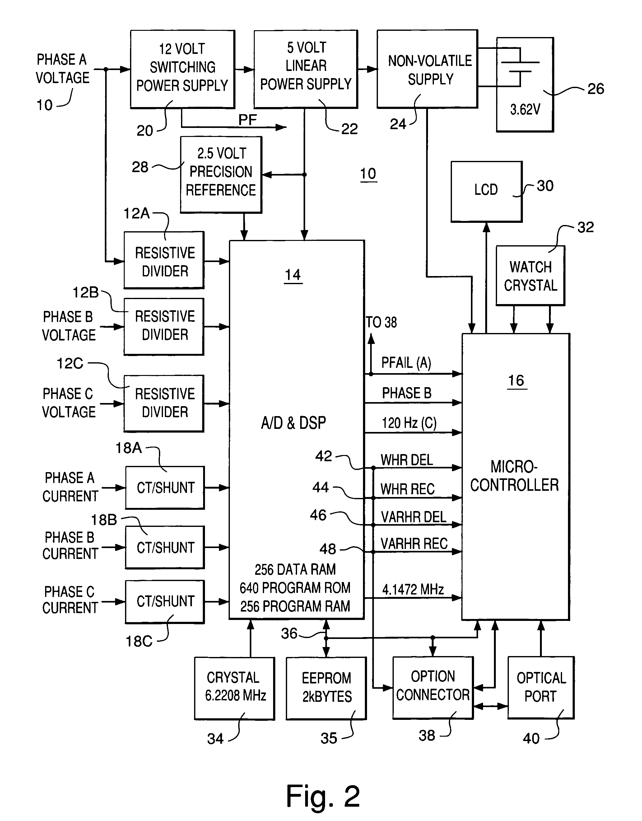 patent us7355867 power supply for an electric meter having a patent drawing