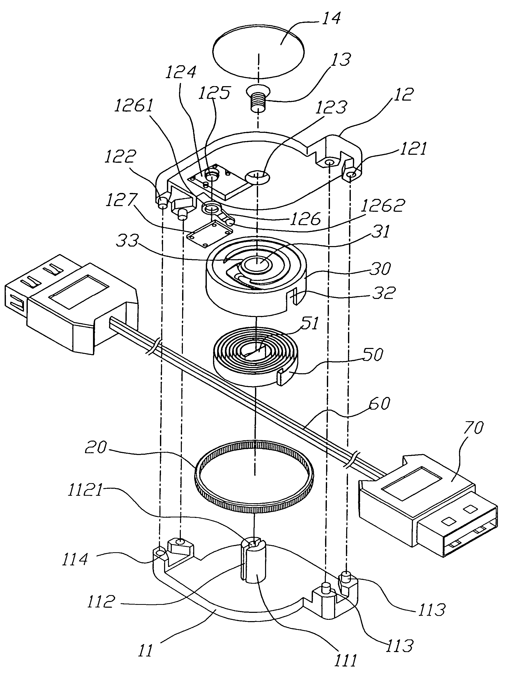 patent us7364109 - cable reel