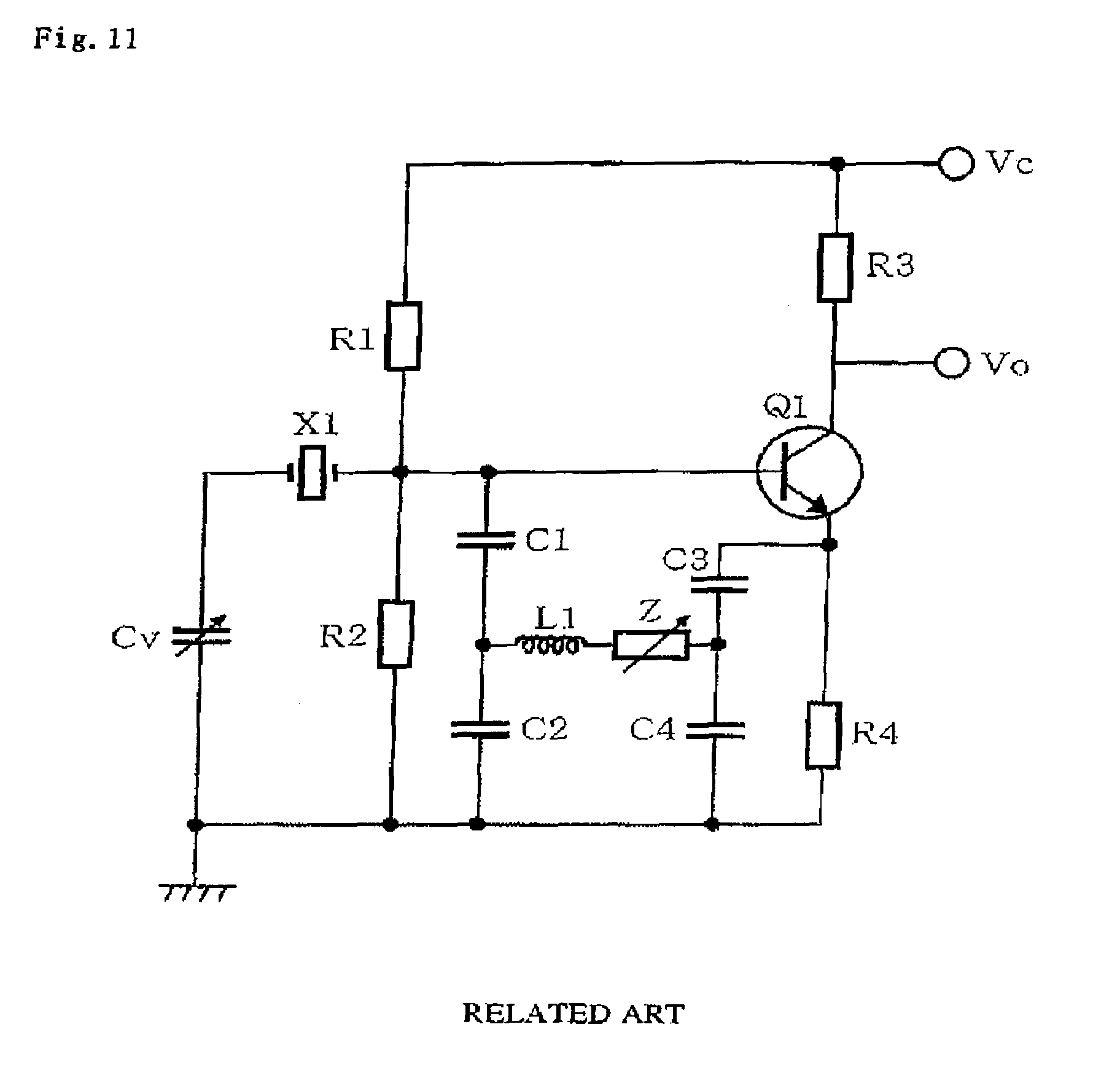 Brevet Us7369005 Colpitts Oscillator Google Brevets Element Crystal Circuit Patent Drawing
