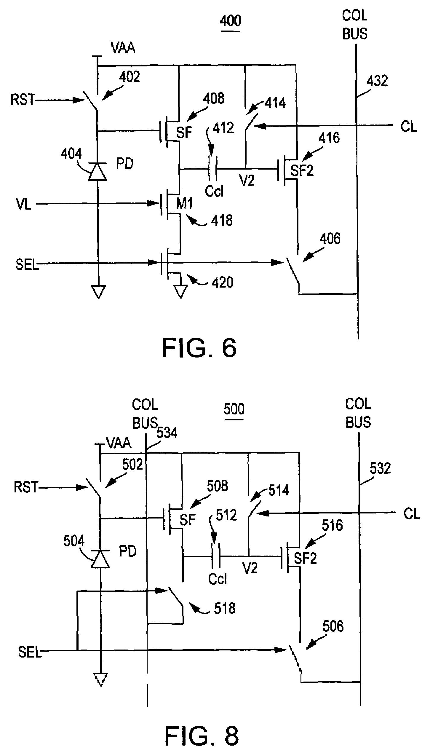 patent us7385166 - in-pixel ktc noise suppression using circuit techniques