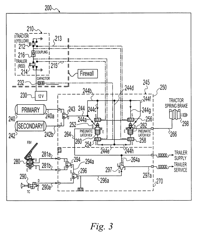 patent us7396089 - electro-pneumatic latching valve system