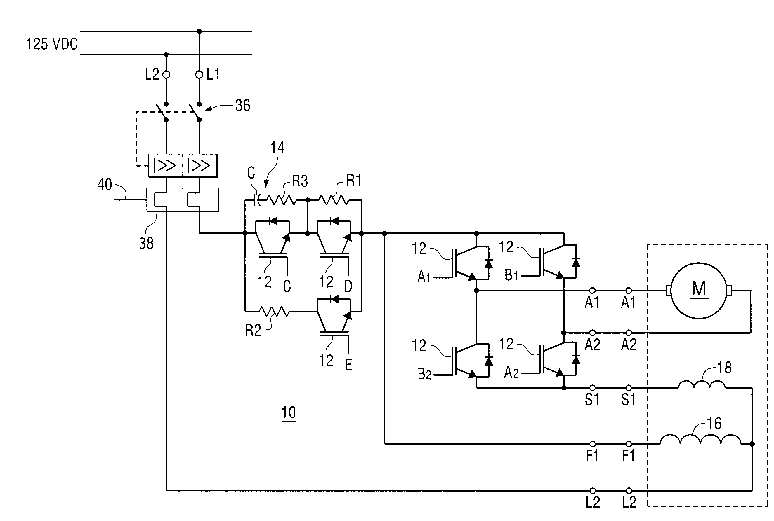 Patent us7397222 on line testable solid state reversing dc motor patent drawing sciox Gallery